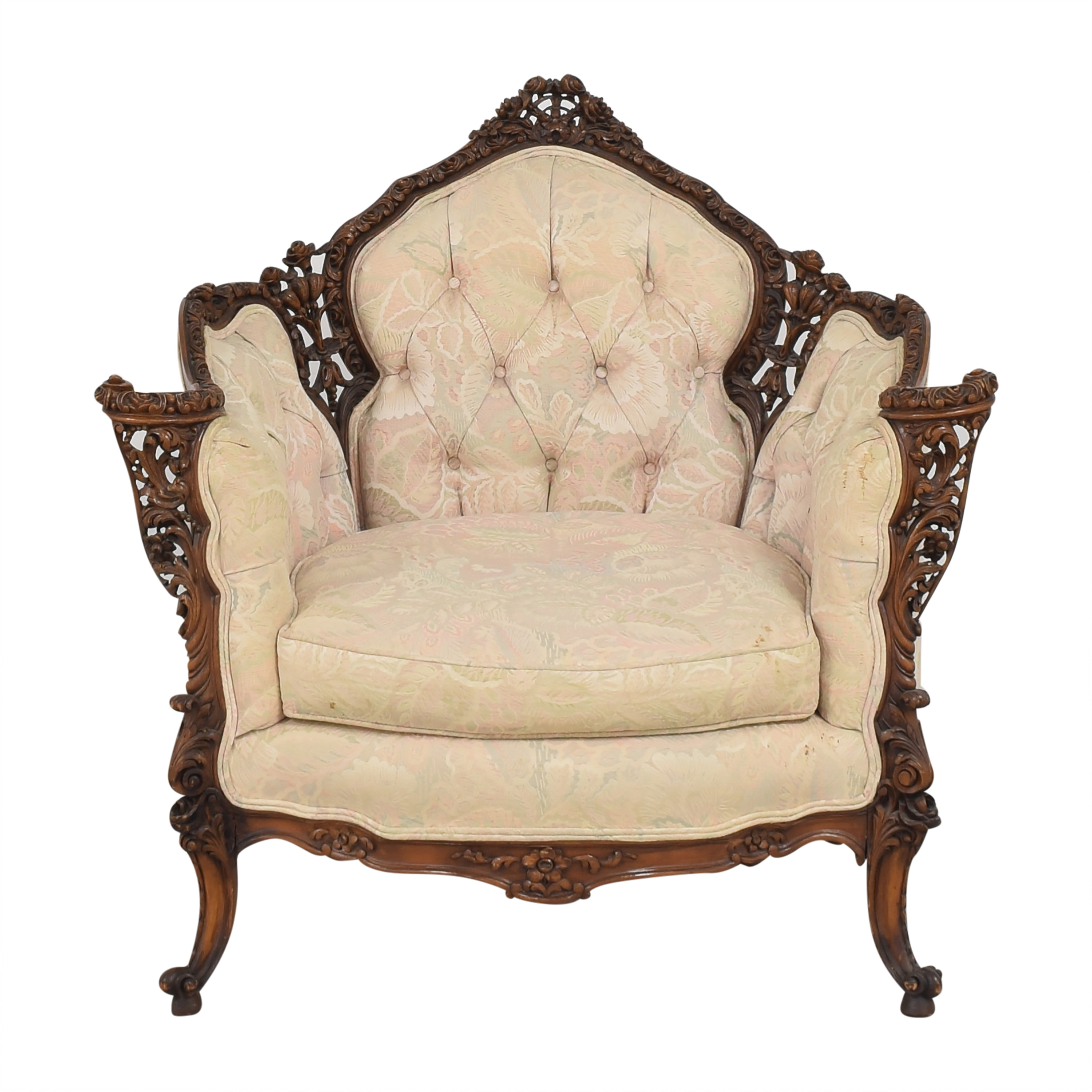 Carved Accent Chair