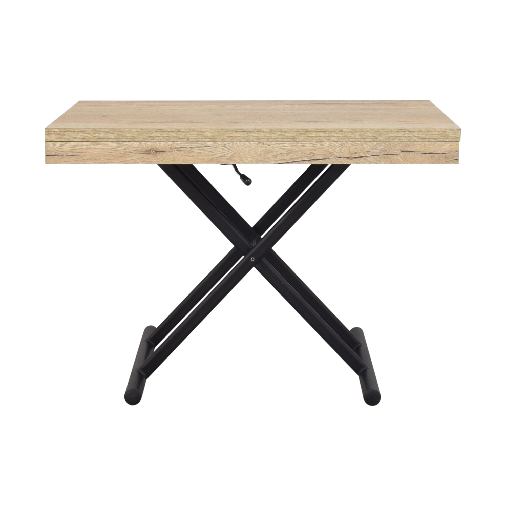 Expand Furniture Expand Furniture Alzare Square Transforming Table light brown & black