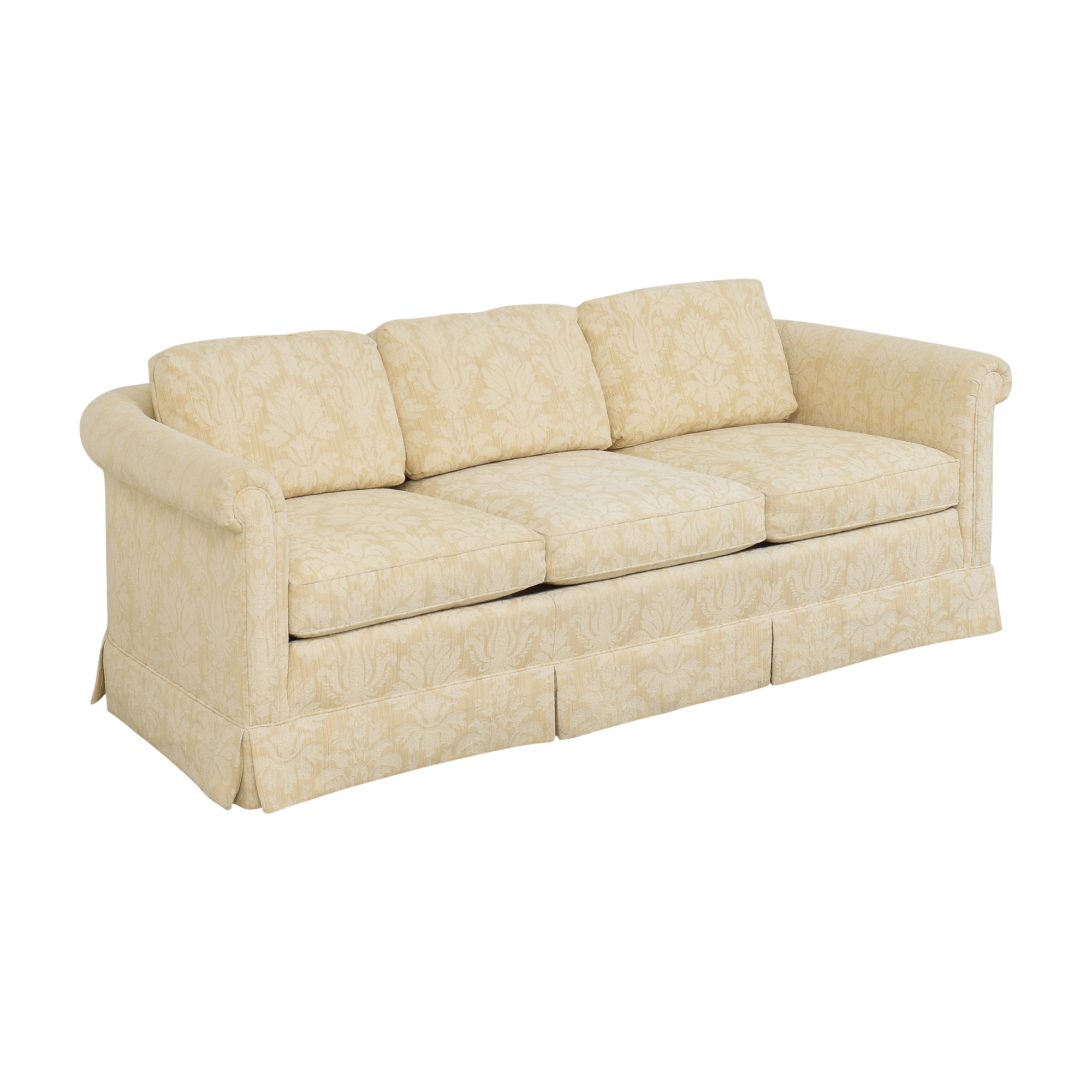 buy Baker Furniture Skirted Damask Sofa Baker Furniture
