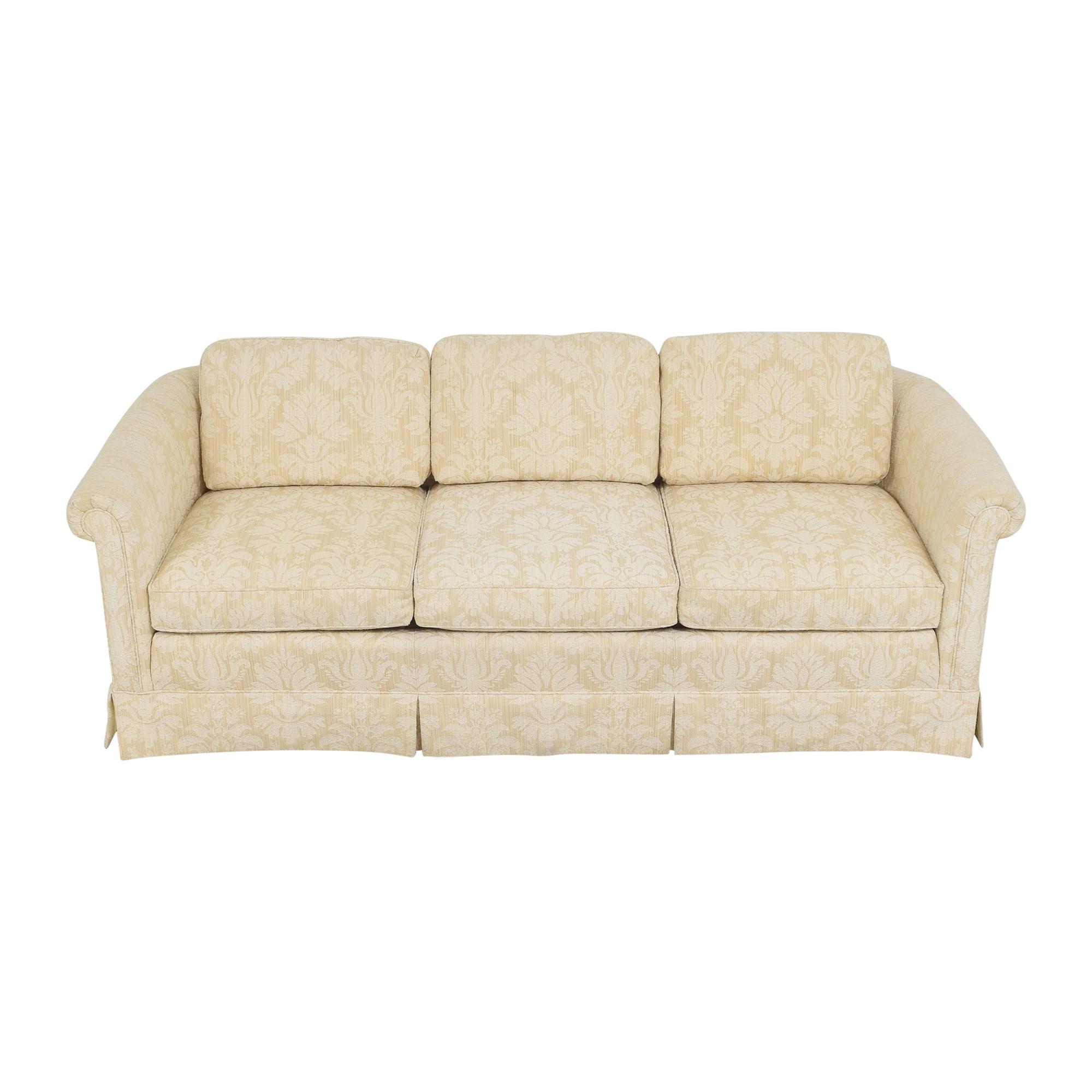 Baker Furniture Baker Furniture Skirted Damask Sofa second hand
