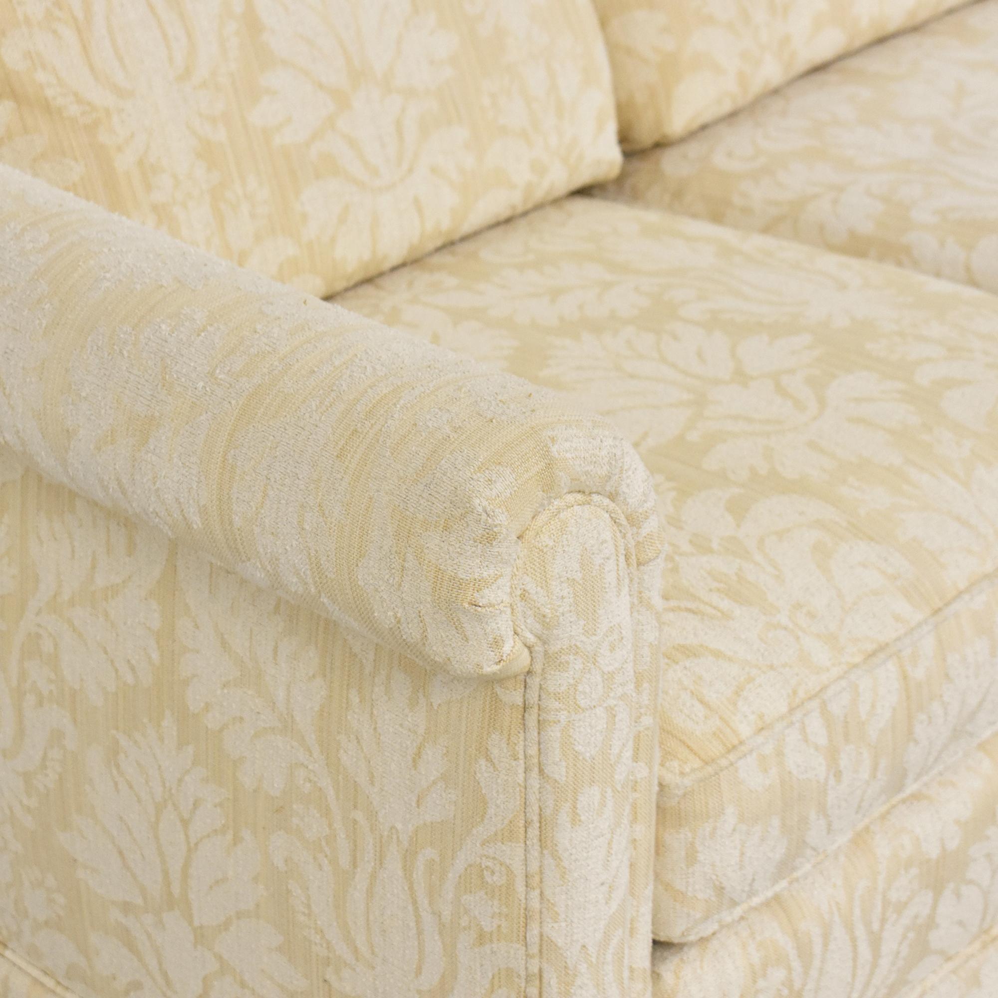 Baker Furniture Skirted Damask Sofa sale