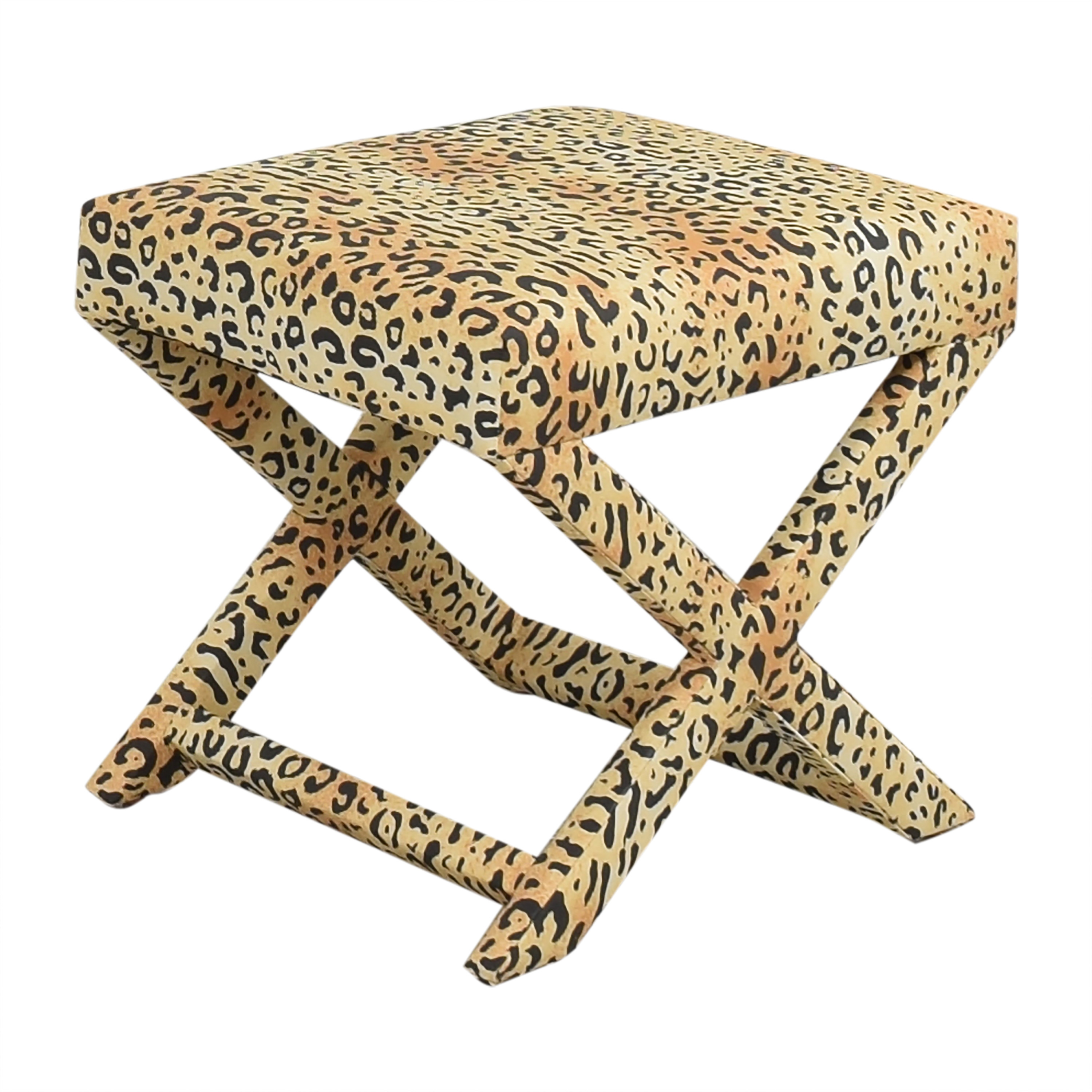 The Inside The Inside Leopard X Bench Ottomans