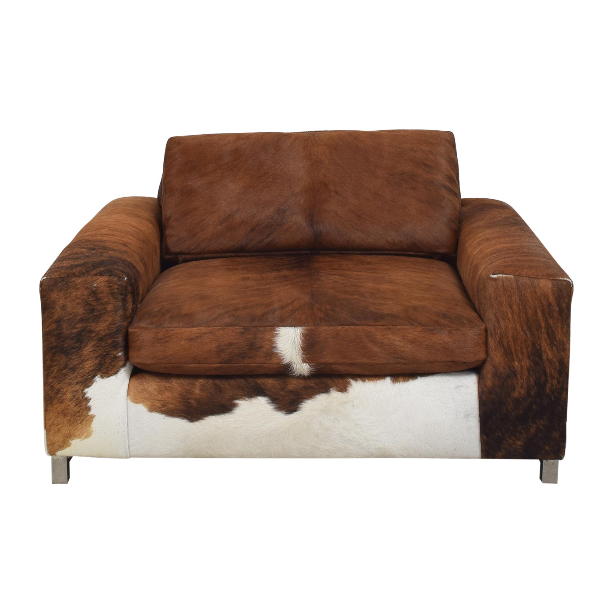 Room & Board Custom Room & Board Hide Lounge Chair second hand