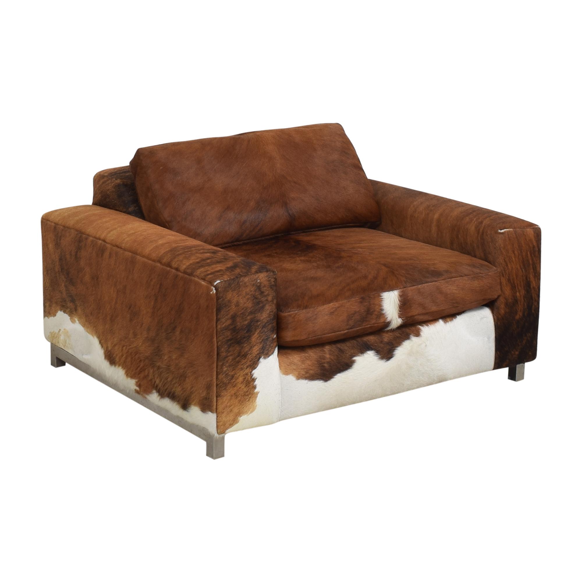 Room & Board Custom Room & Board Hide Lounge Chair discount