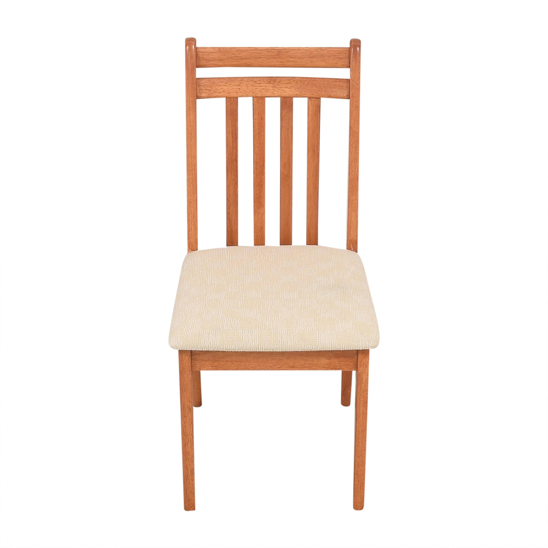 North Carolina Furniture Company North Carolina Furniture Dining Side Chair brown & beige