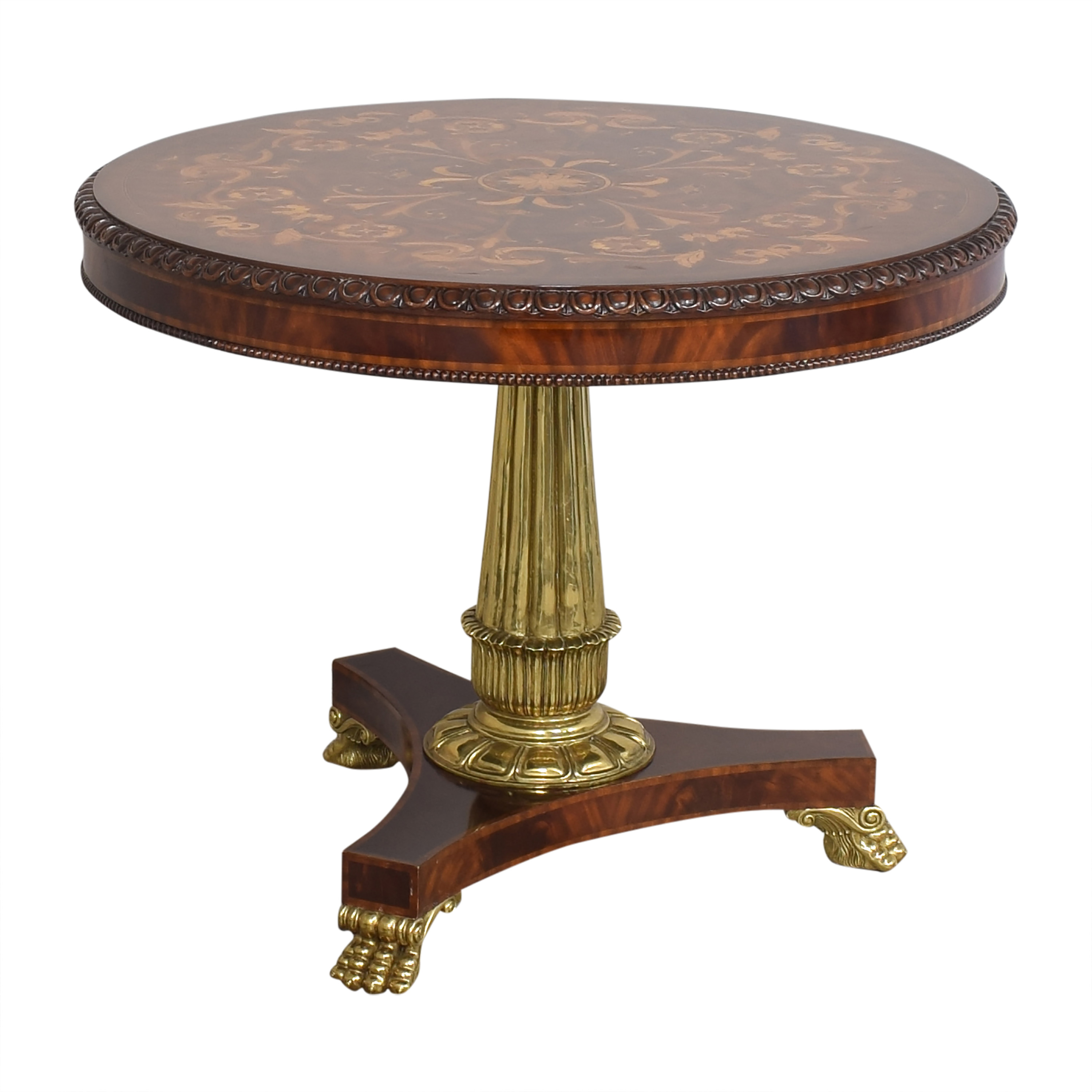 Empire Style Round Accent Table / Tables