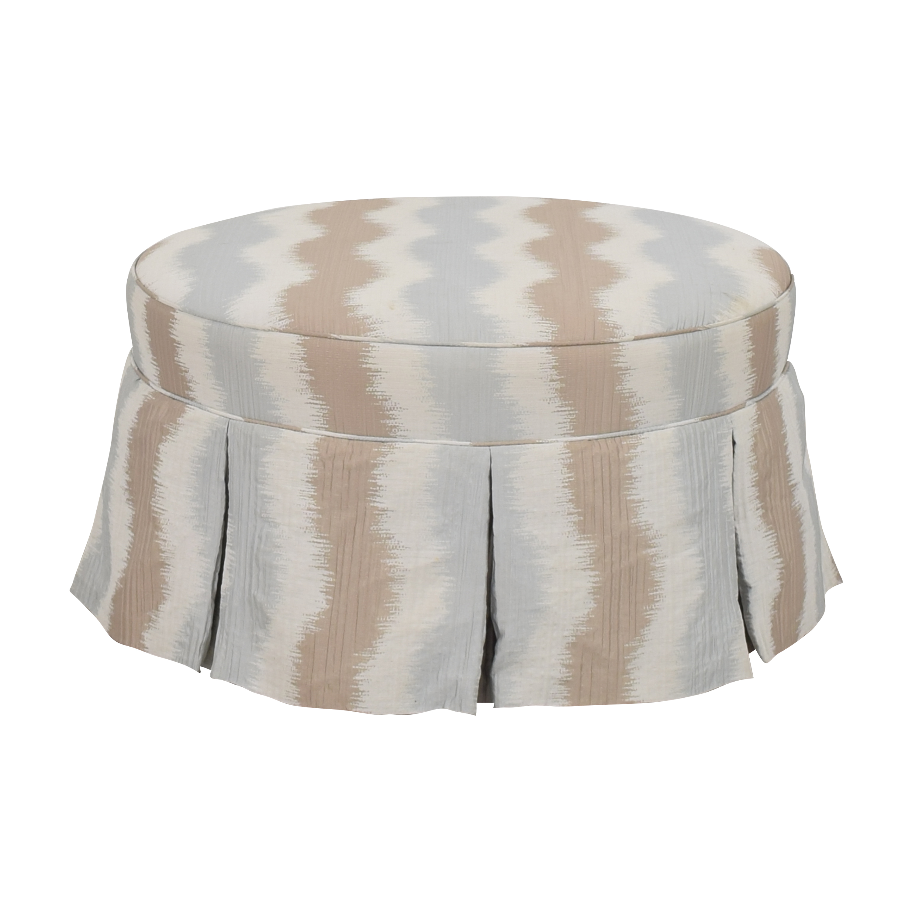 Round Skirted Ottoman Chairs