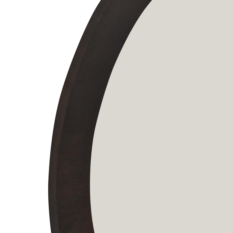 Ethan Allen Ethan Allen Round Framed Mirror dark brown