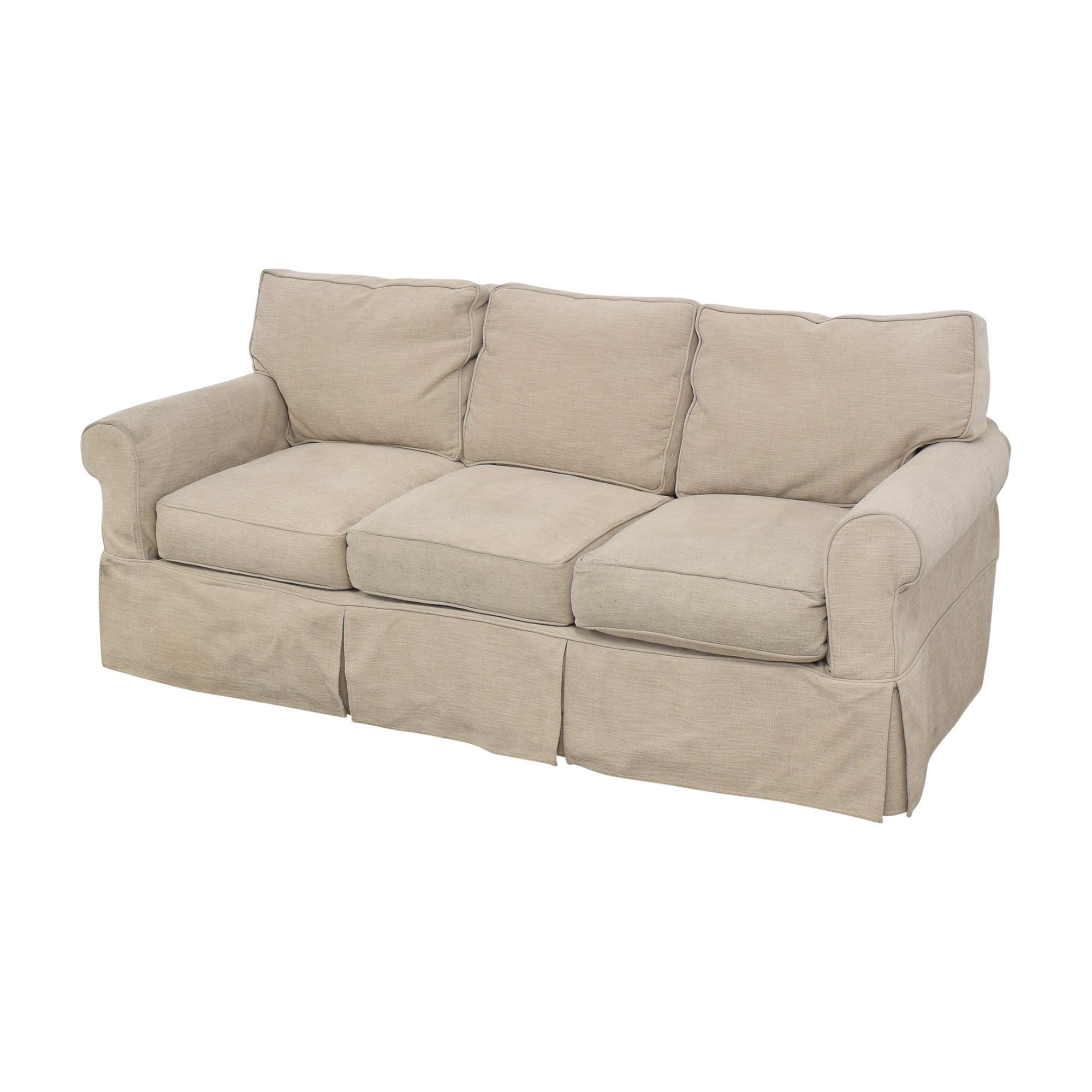 Country Willow Country Willow Roll Arm Slipcovered Sofa beige