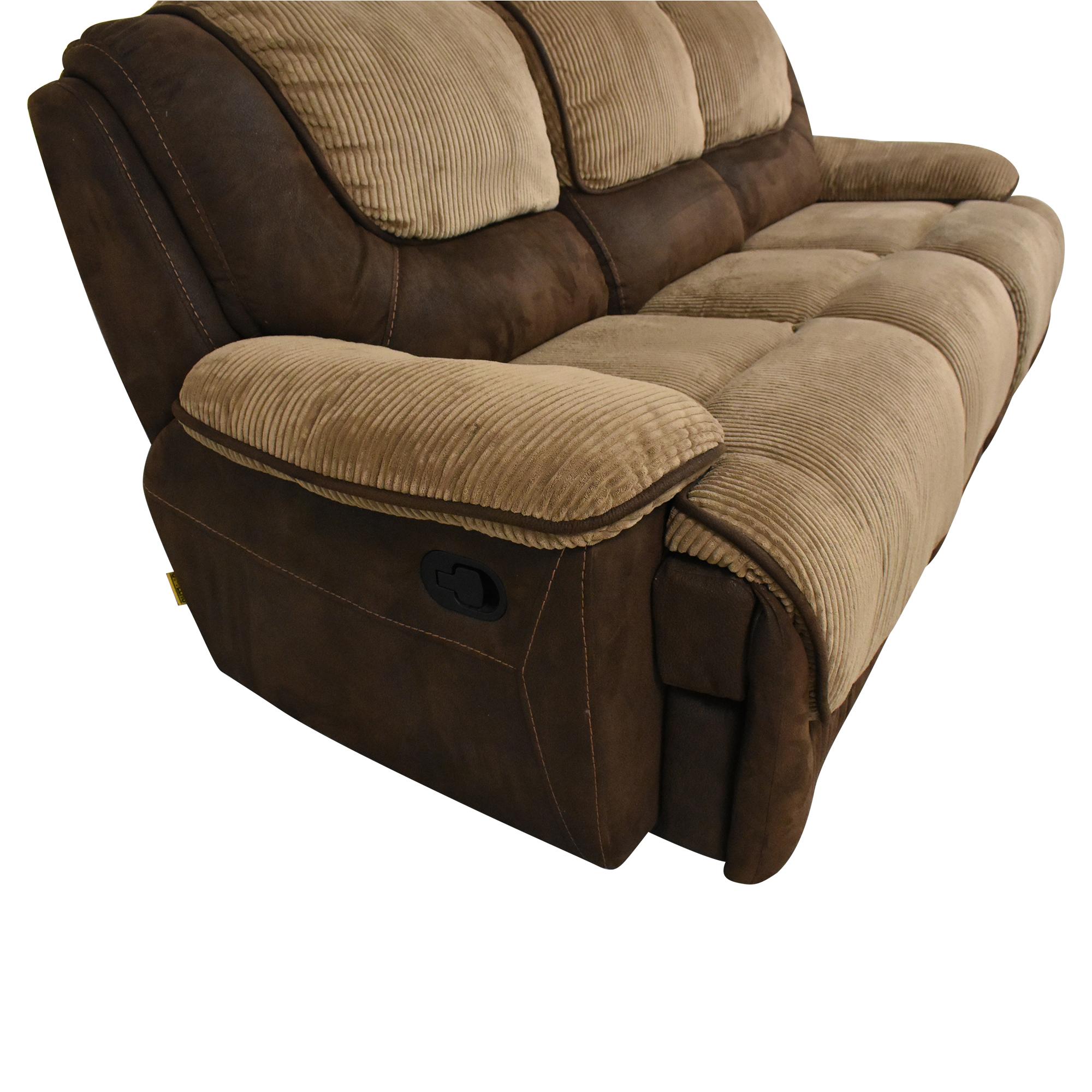buy Two Tone Reclining Sofa