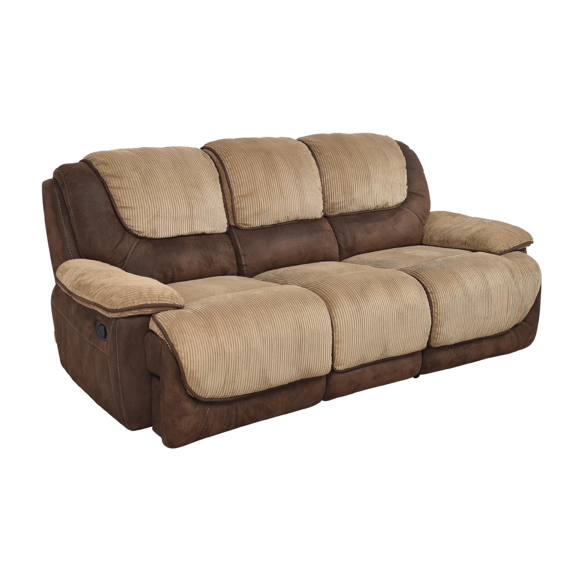 Two Tone Reclining Sofa sale