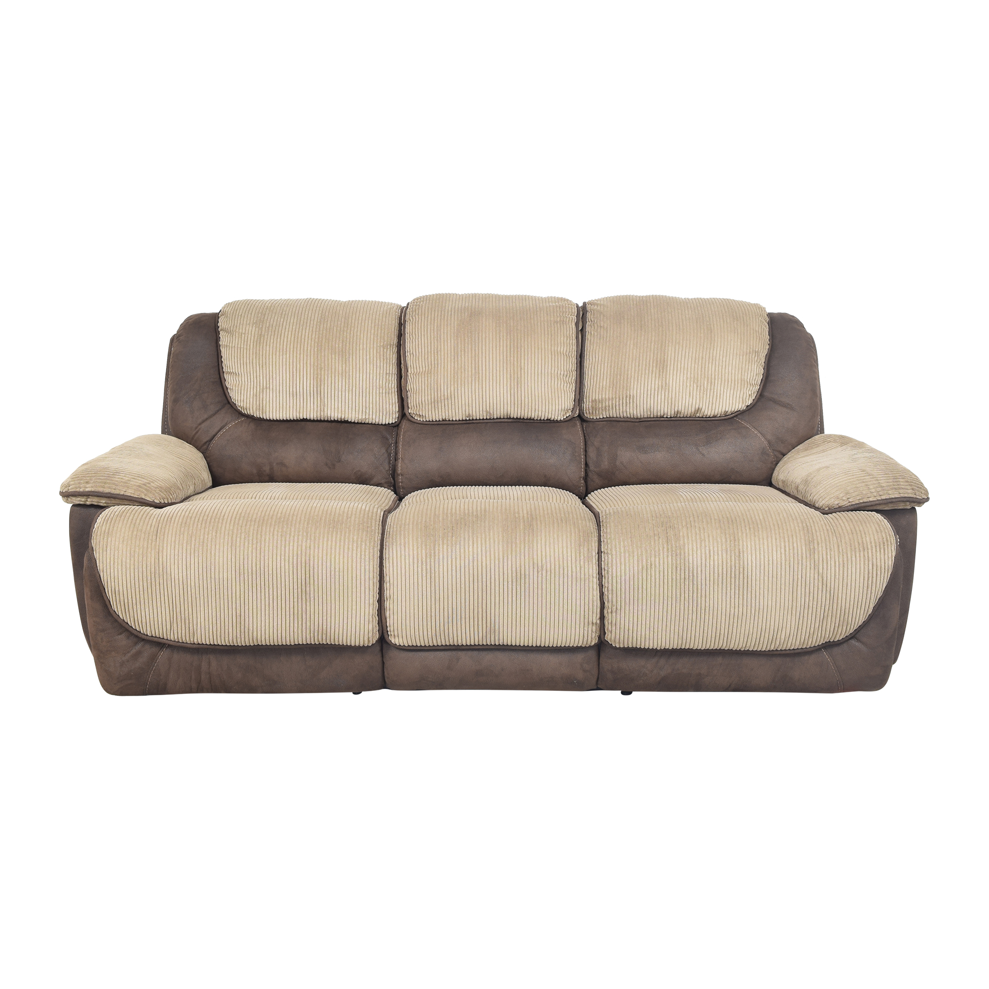 shop Two Tone Reclining Sofa