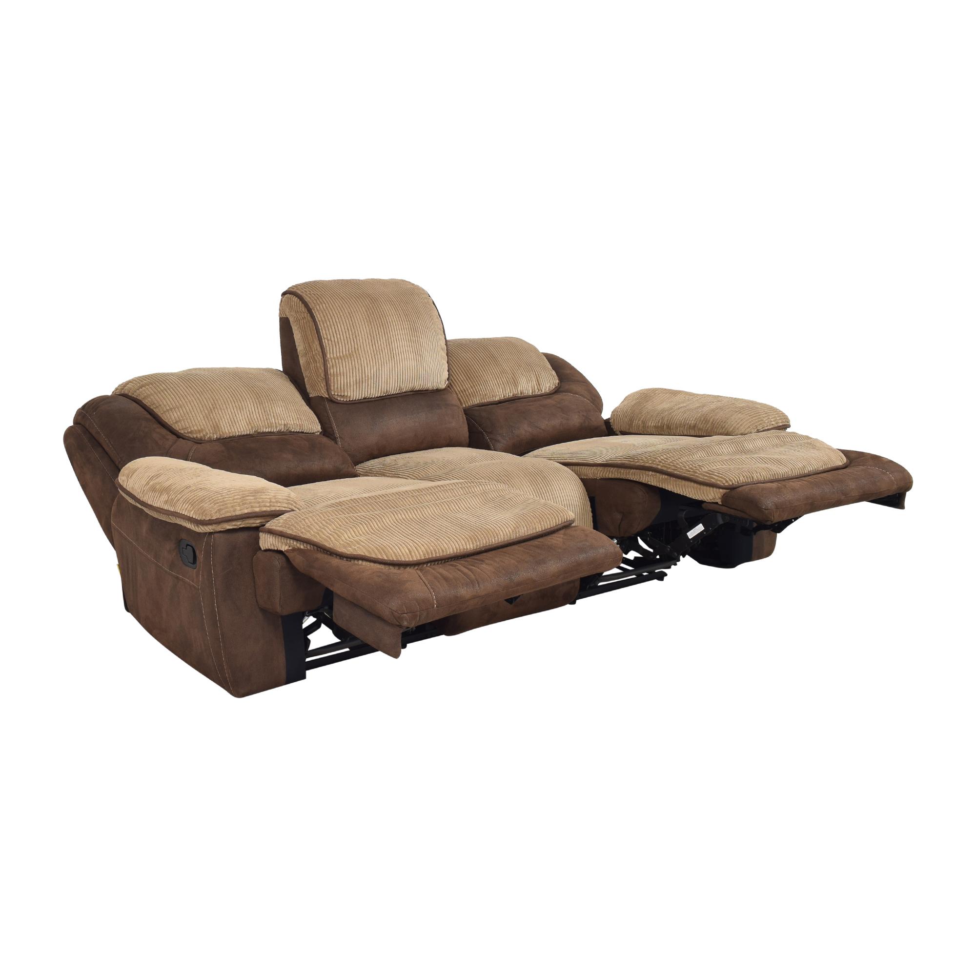buy Two Tone Reclining Sofa  Classic Sofas