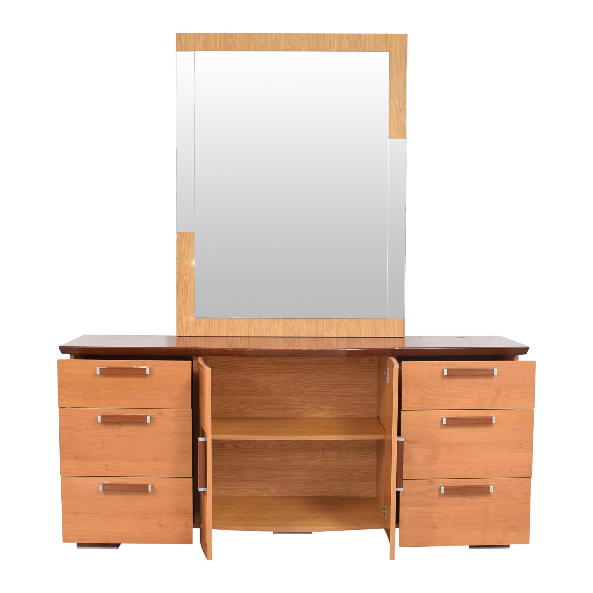 shop Alf Italia Door Dresser with Mirror Alf Italia