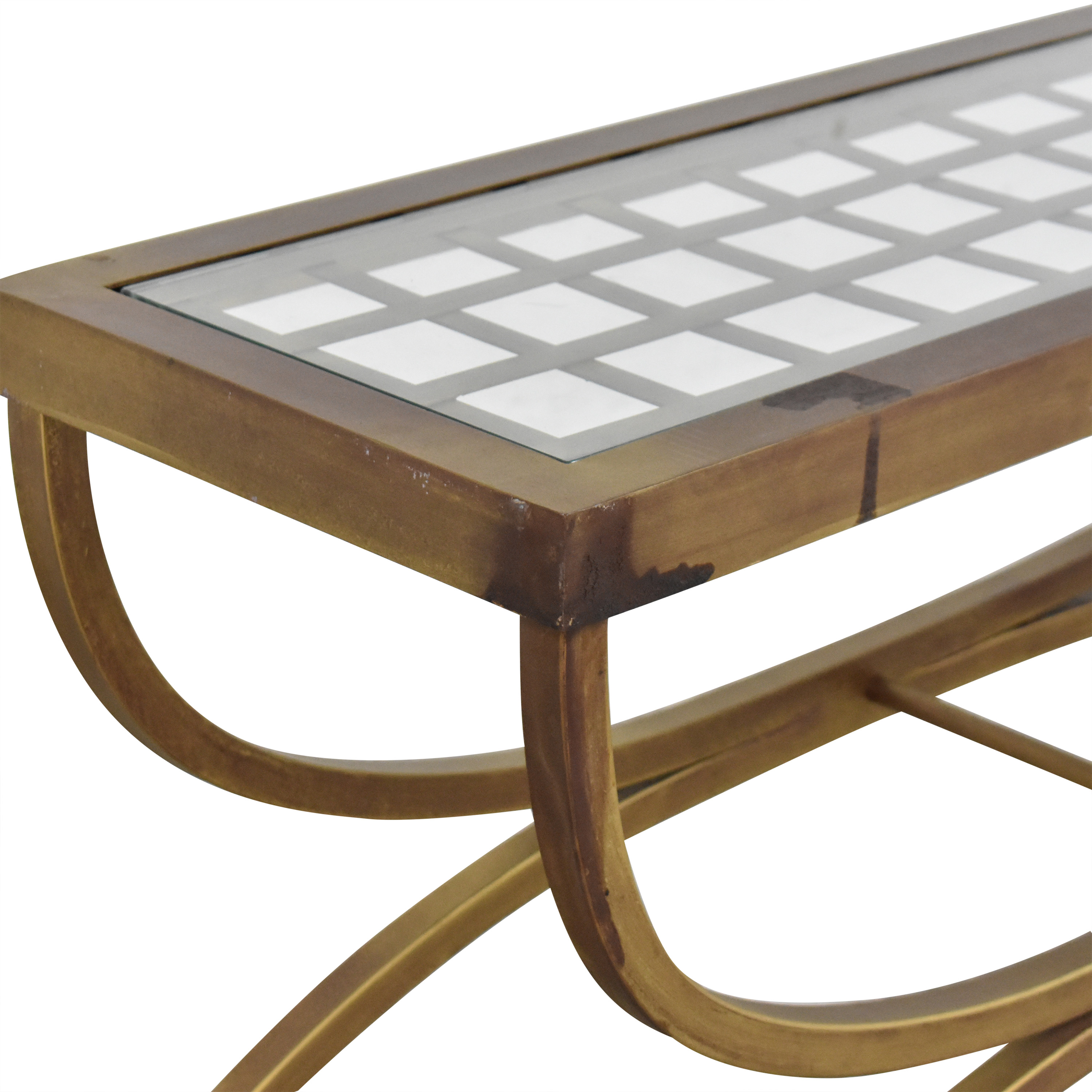 Bombay Company Bombay Company End Table with Translucent Surface nyc