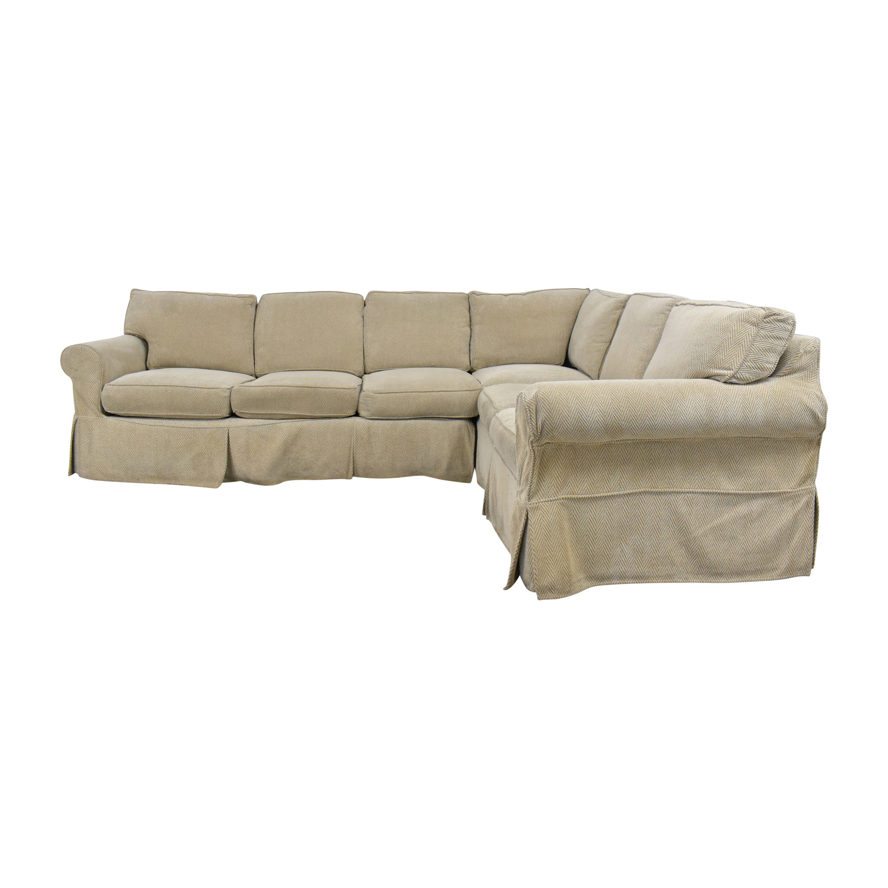 Country Willow Country Willow Vineyard Slipcovered Corner Sectional Sofa Sectionals