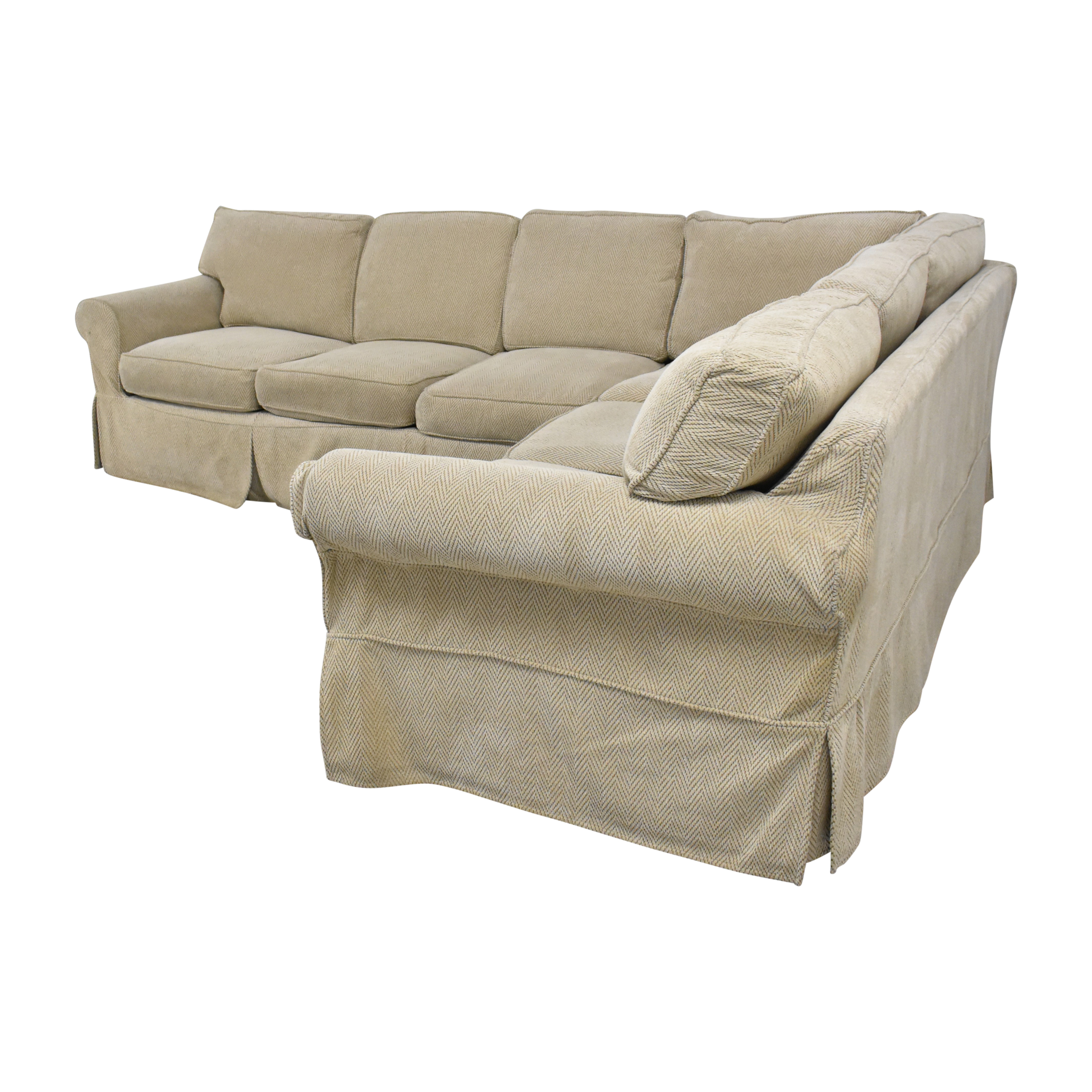 Country Willow Country Willow Vineyard Slipcovered Corner Sectional Sofa nj