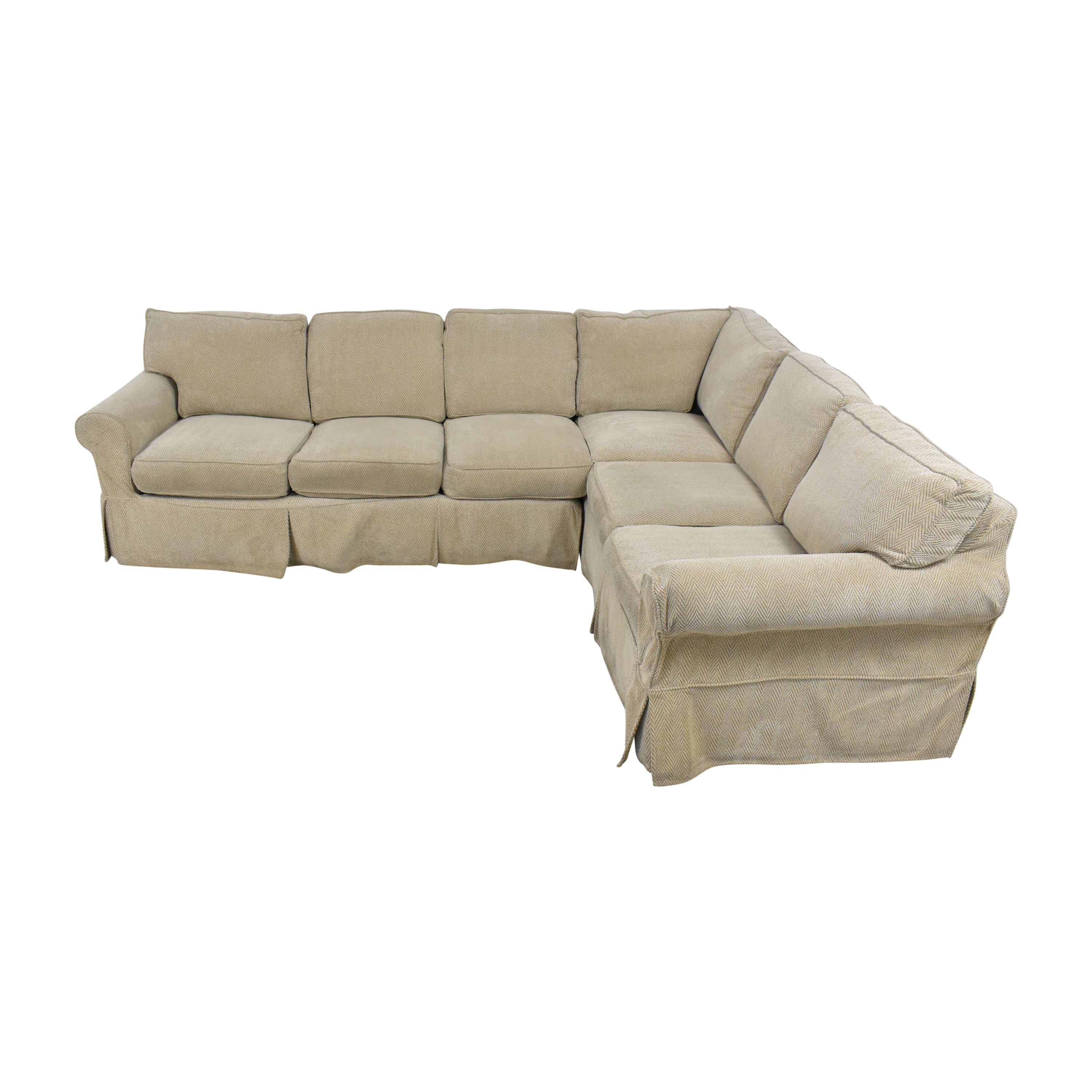 Country Willow Country Willow Vineyard Slipcovered Corner Sectional Sofa ct