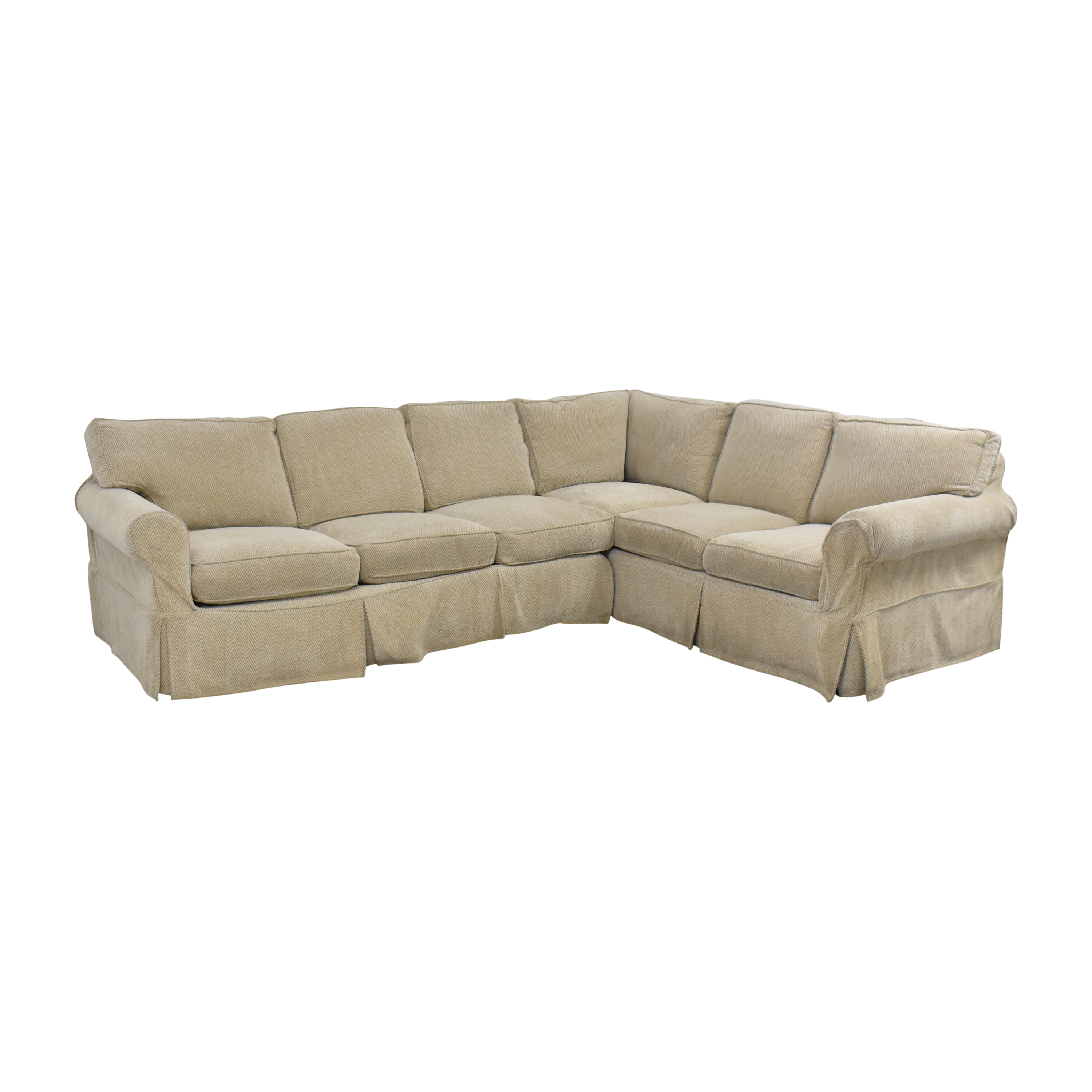 Country Willow Country Willow Vineyard Slipcovered Corner Sectional Sofa second hand