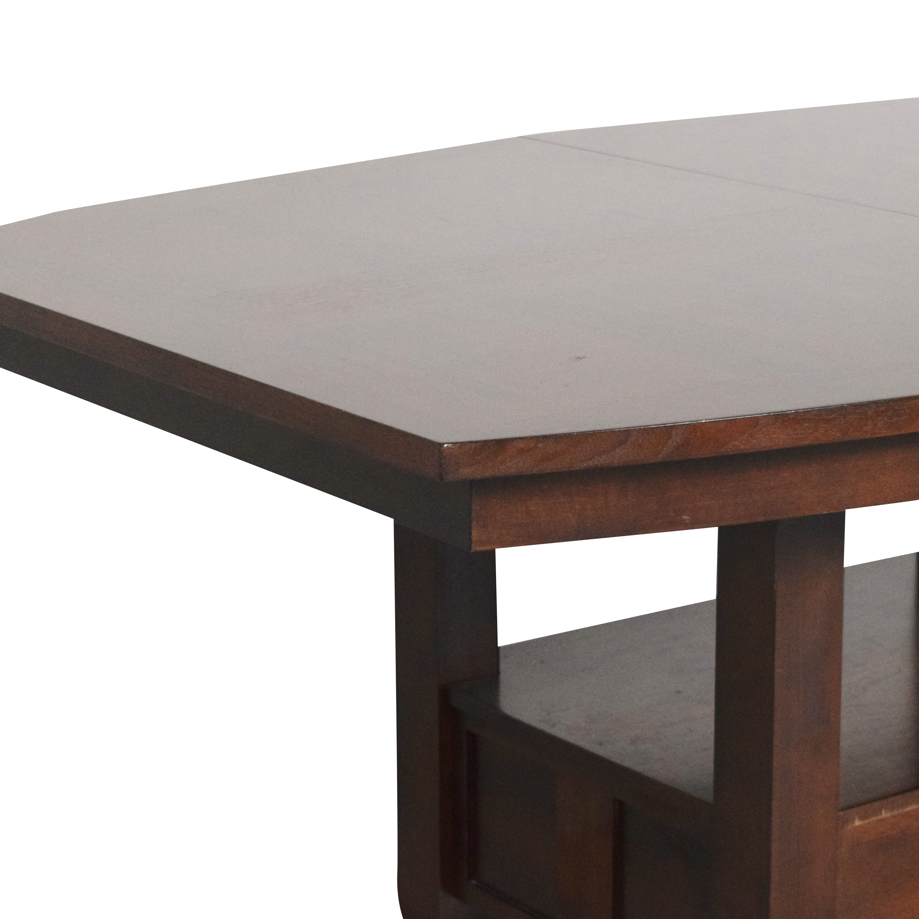 Broyhill Furniture Broyhill Furniture Extendable Dining Table dark brown
