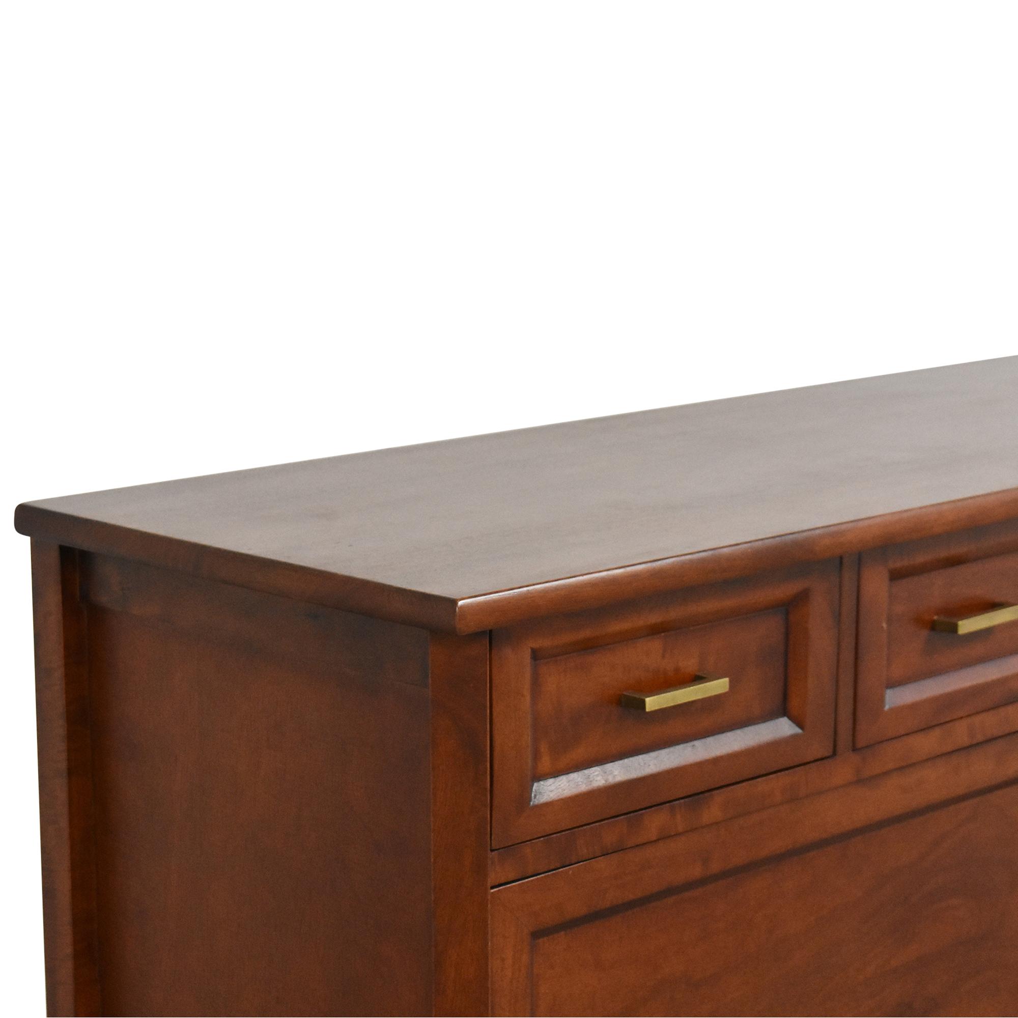 Crate & Barrel Sliding Door Console / Storage