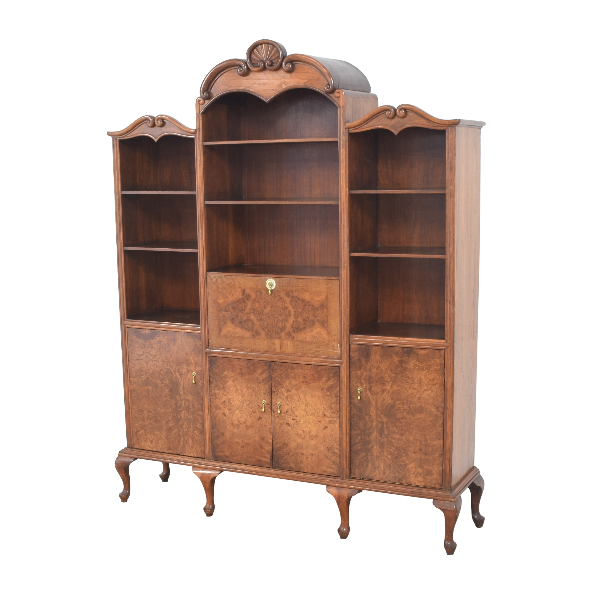 shop Breakfront with Bar Cabinet  Bookcases & Shelving