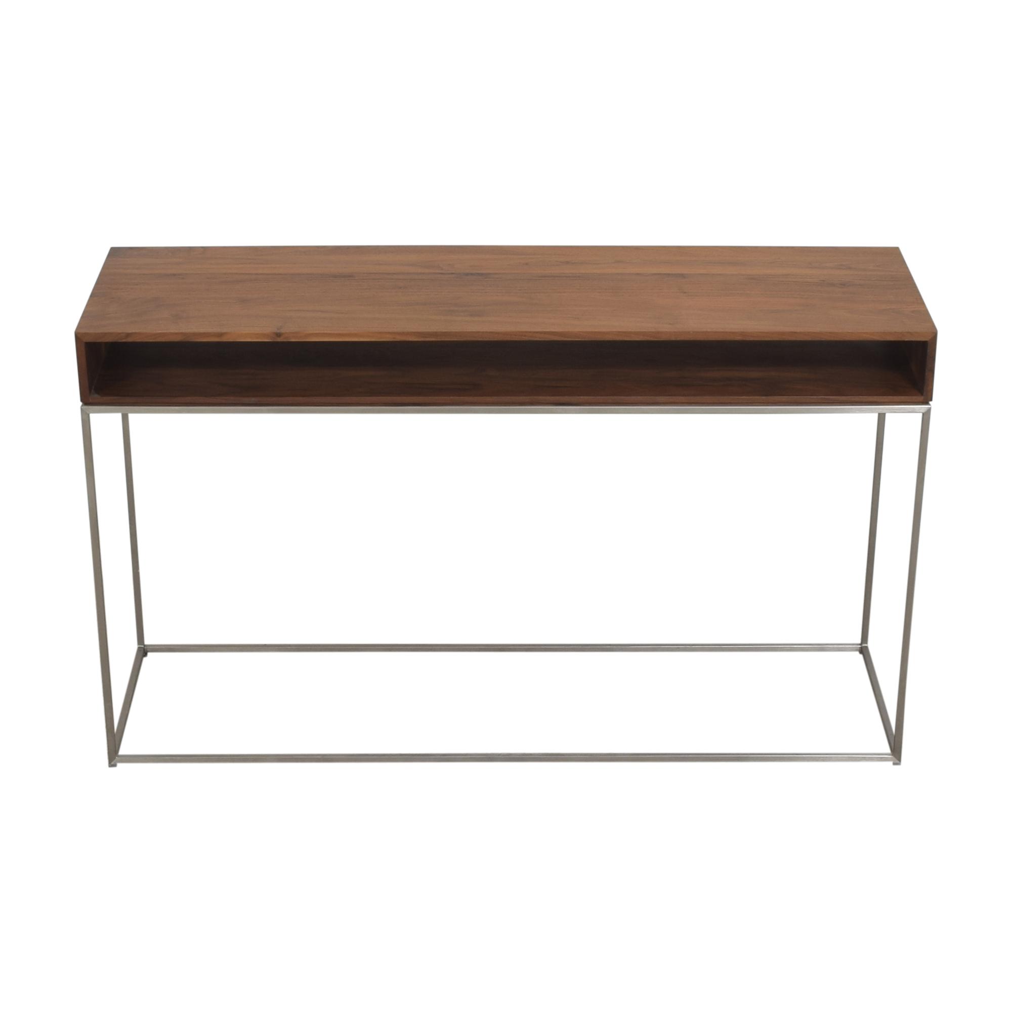 shop Crate & Barrel Frame Console Table Crate & Barrel Accent Tables