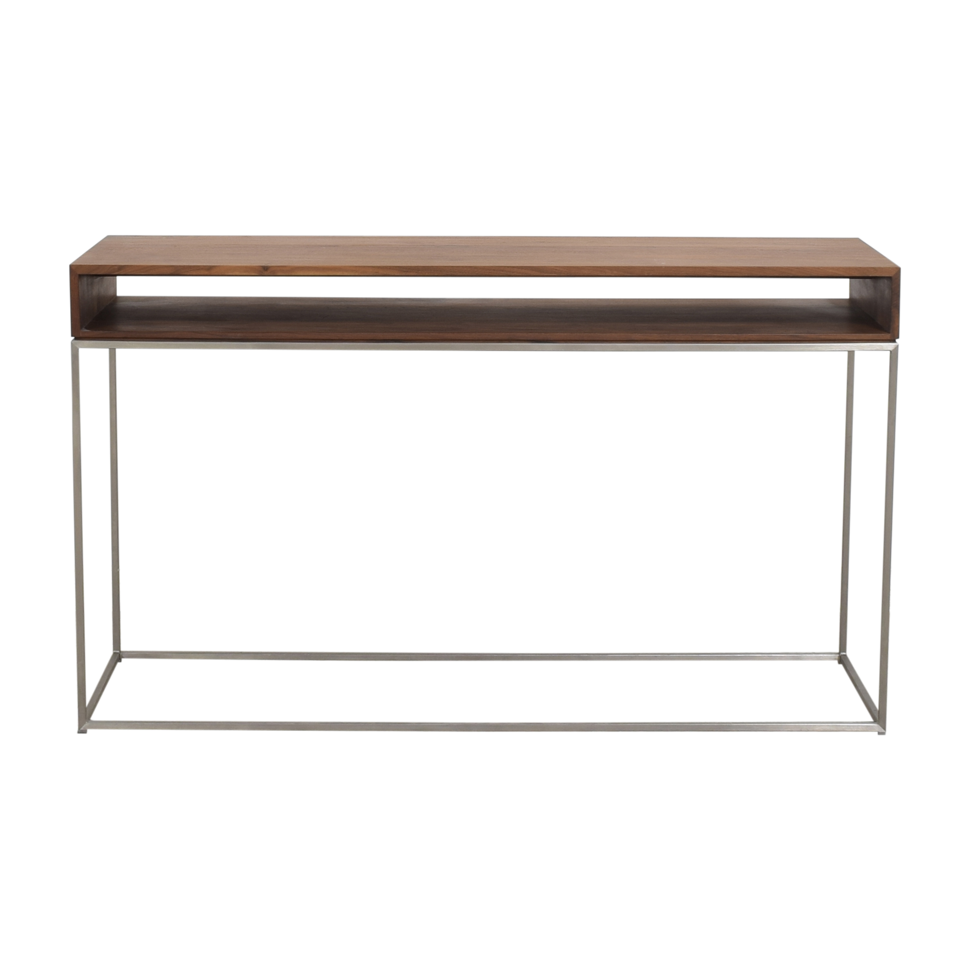 shop Crate & Barrel Frame Console Table Crate & Barrel Accent Tables