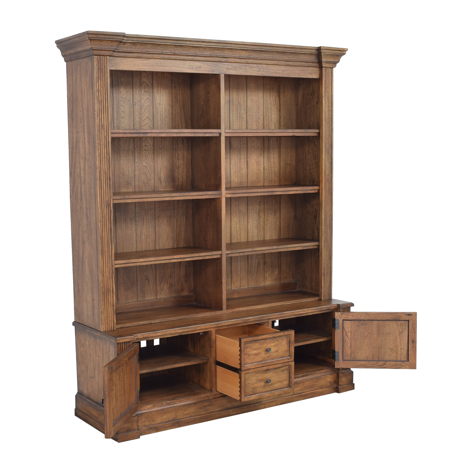 shop Ethan Allen Double Bookcase Ethan Allen Storage