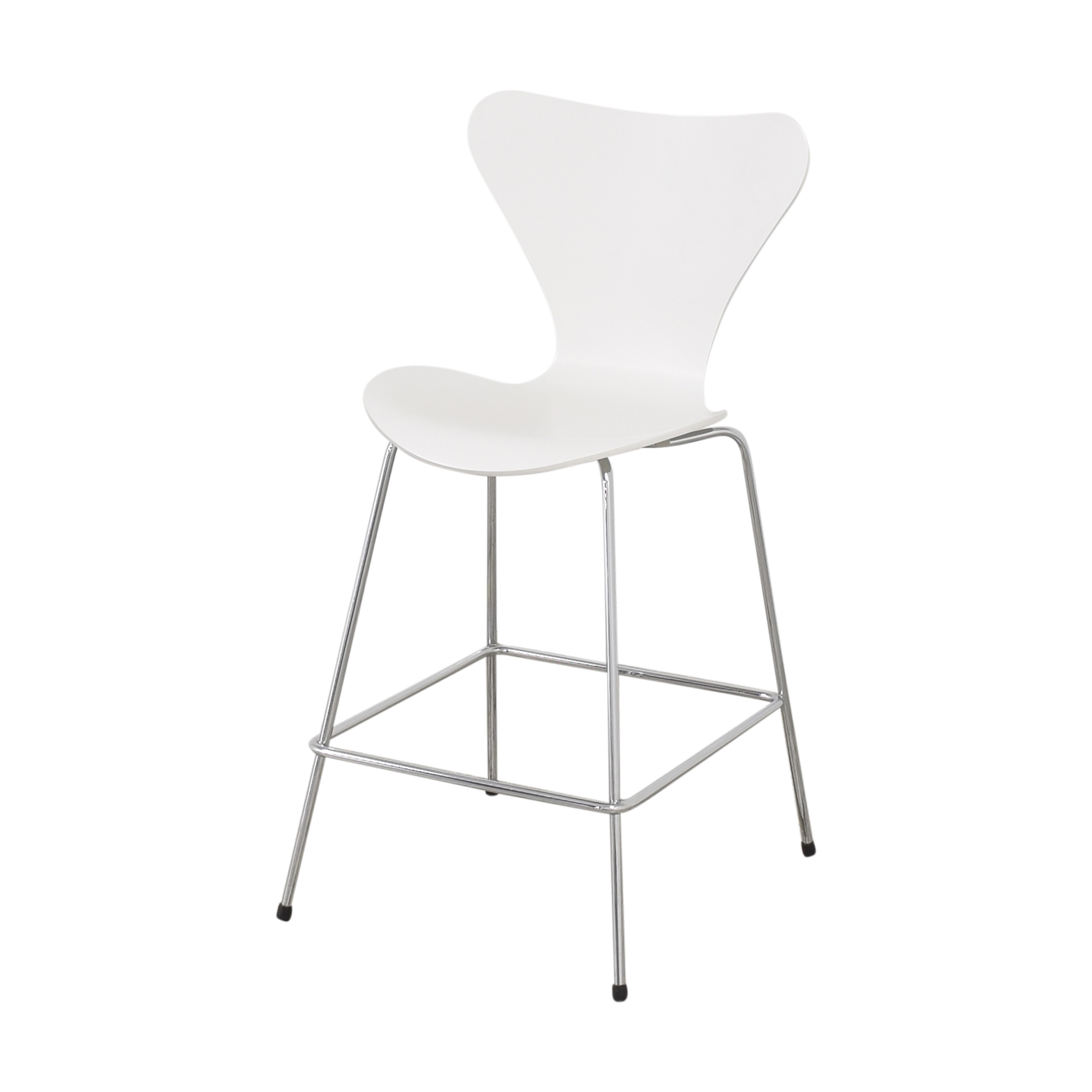 Fritz Hansen Fritz Hansen Series 7 Stool white and silver