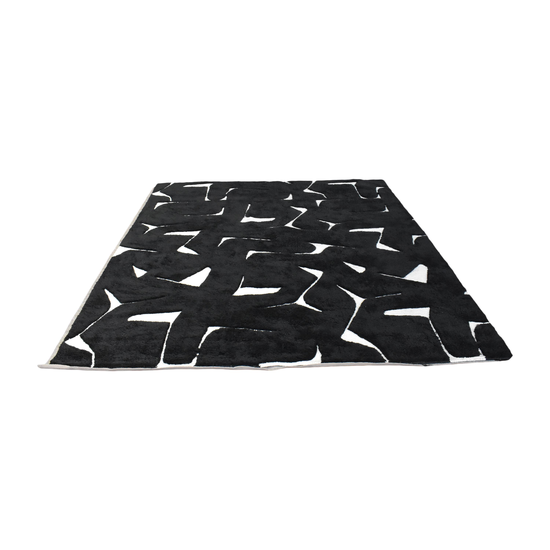 CB2 CB2 Sway Black Tufted Rug price