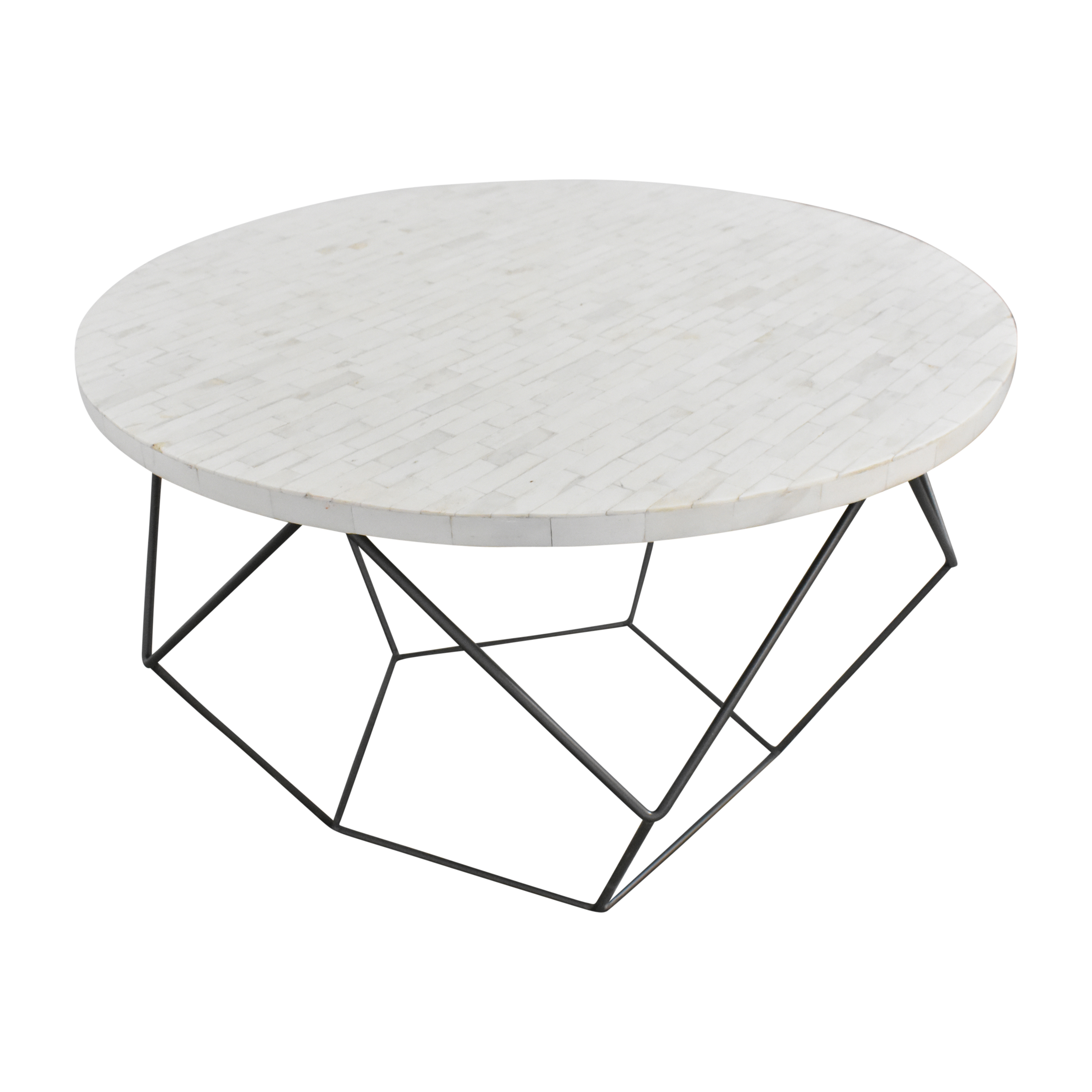 West Elm West Elm Origami Coffee Table white