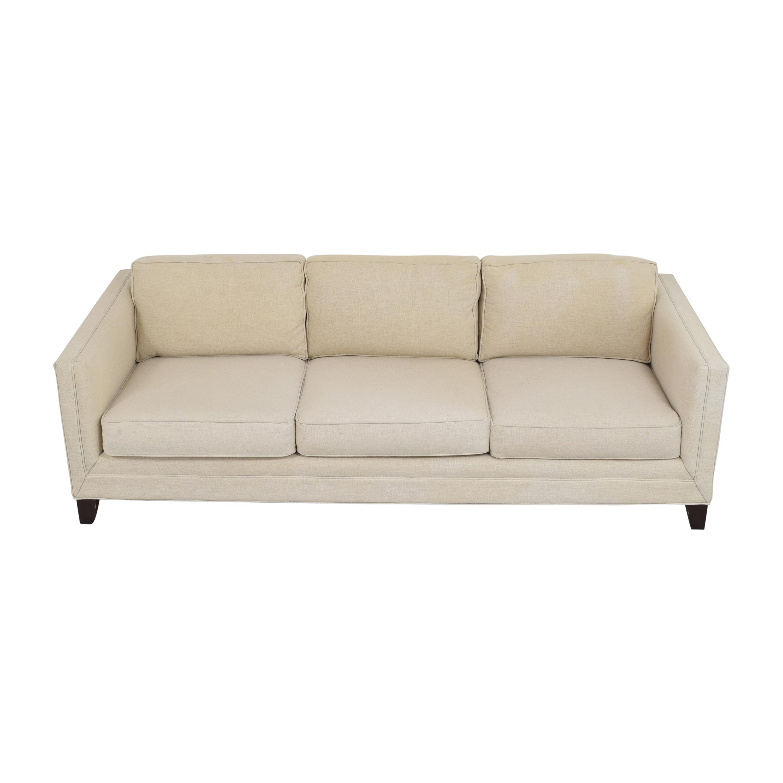 Mitchell Gold + Bob Williams Mitchell Gold + Bob Williams Reese Three Cushion Sofa beige