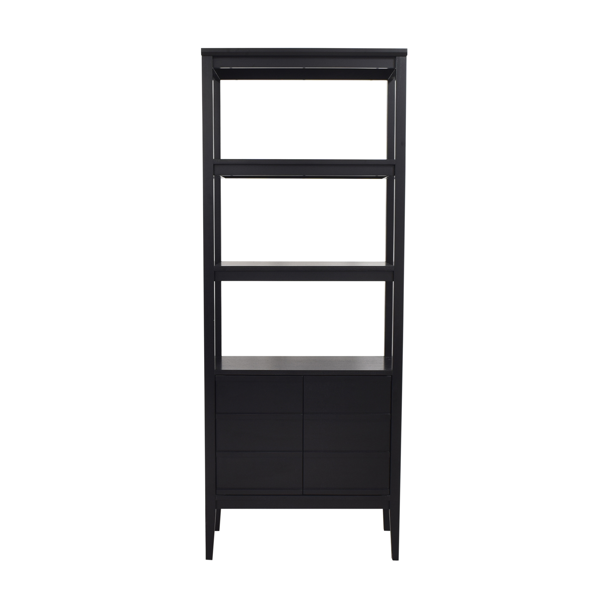 buy Crate & Barrel Spotlight Ebony Bookcase Crate & Barrel Storage