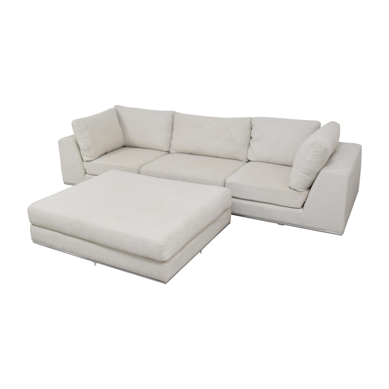 Modloft Modloft Sectional Sofa with Ottoman pa