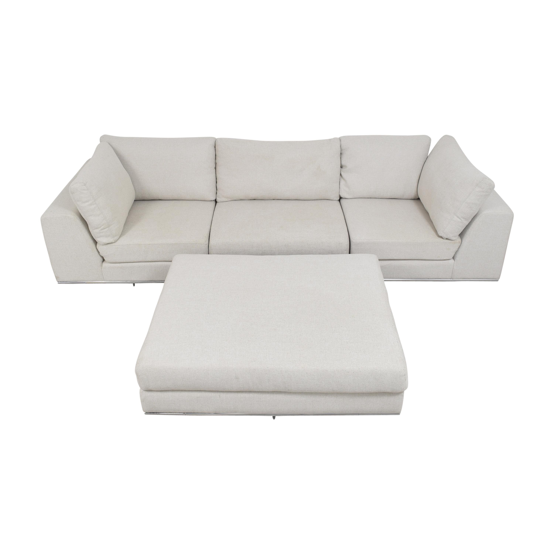 Modloft Sectional Sofa with Ottoman Modloft