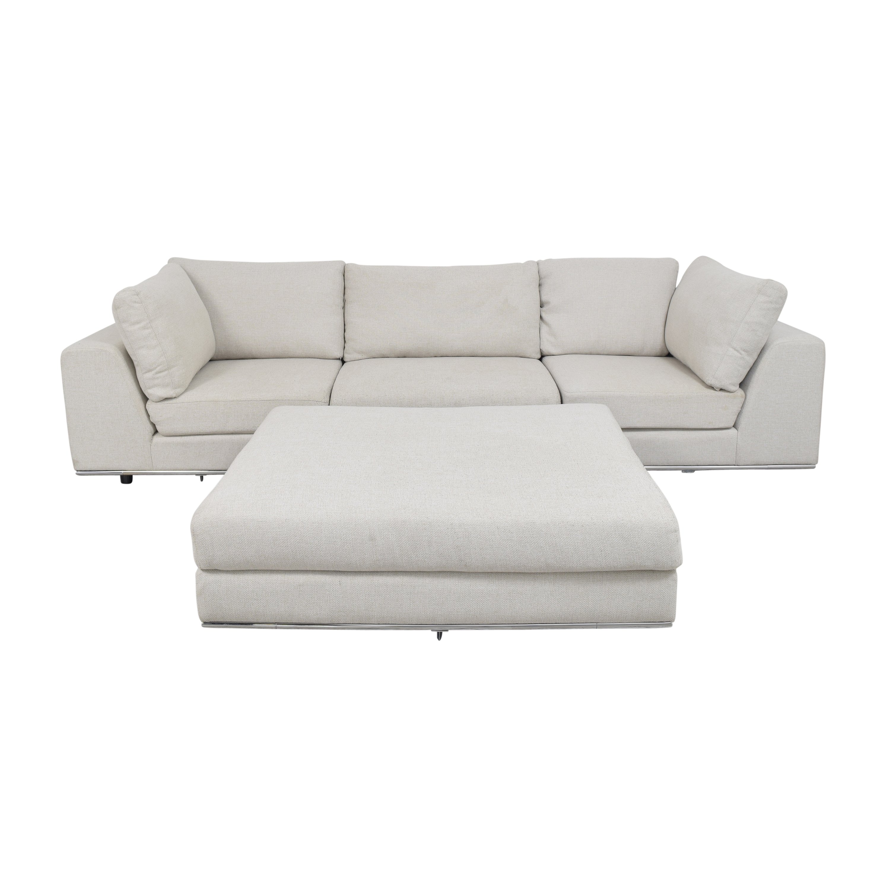 shop Modloft Sectional Sofa with Ottoman Modloft