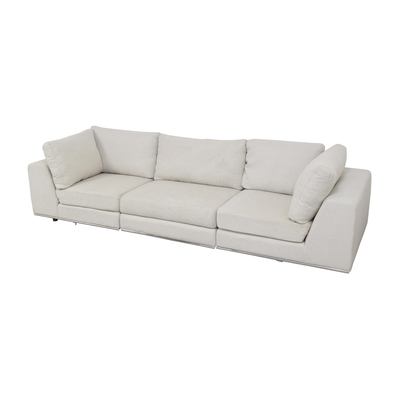 Modloft Modloft Sectional Sofa with Ottoman Sectionals