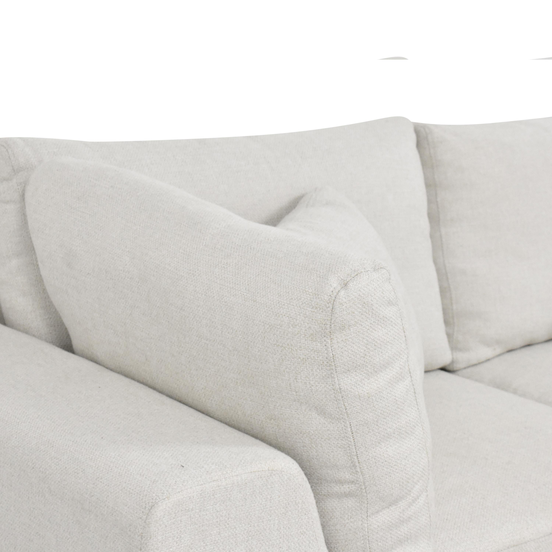 shop Modloft Sectional Sofa with Ottoman Modloft
