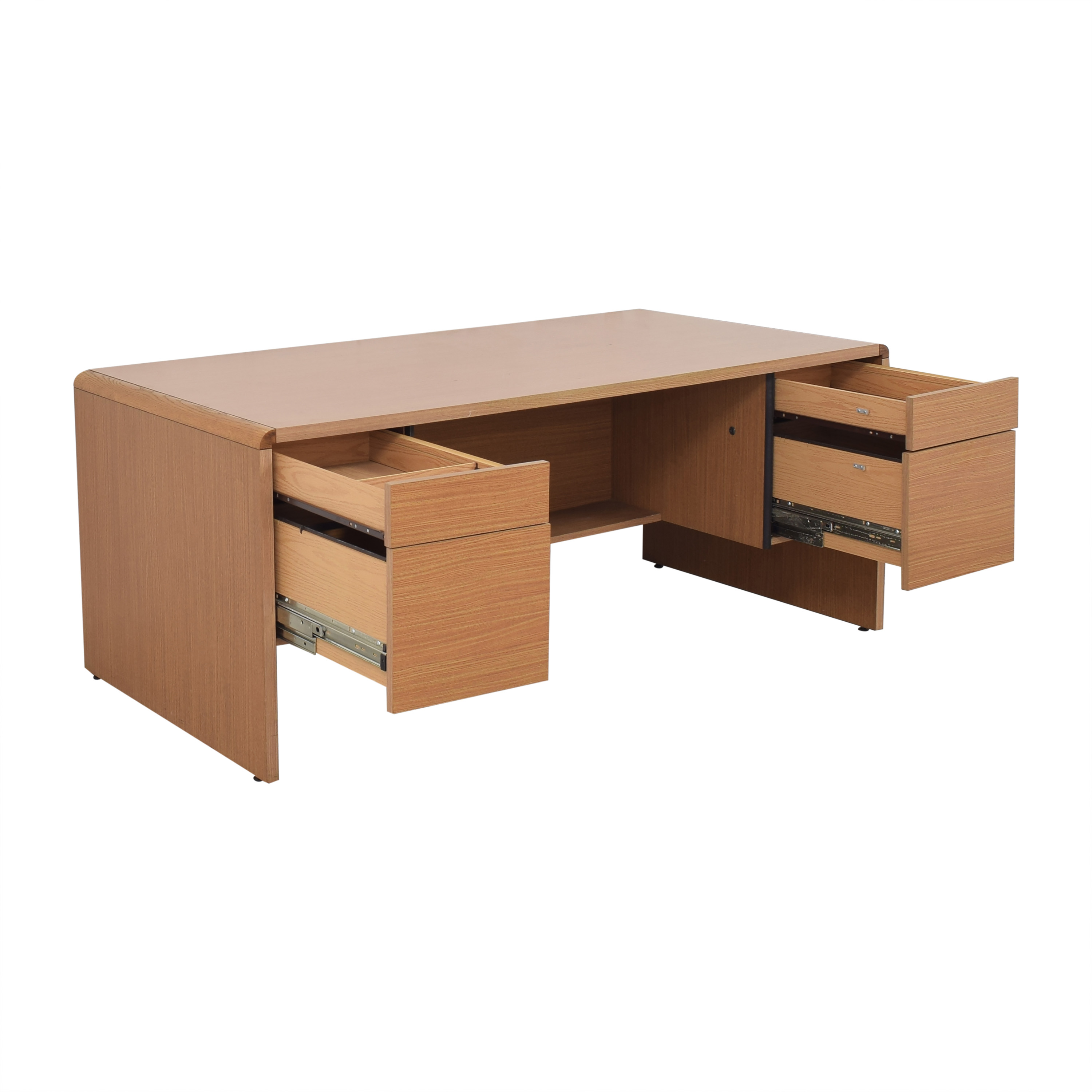 Hon Hon Double Pedestal Executive Desk brown