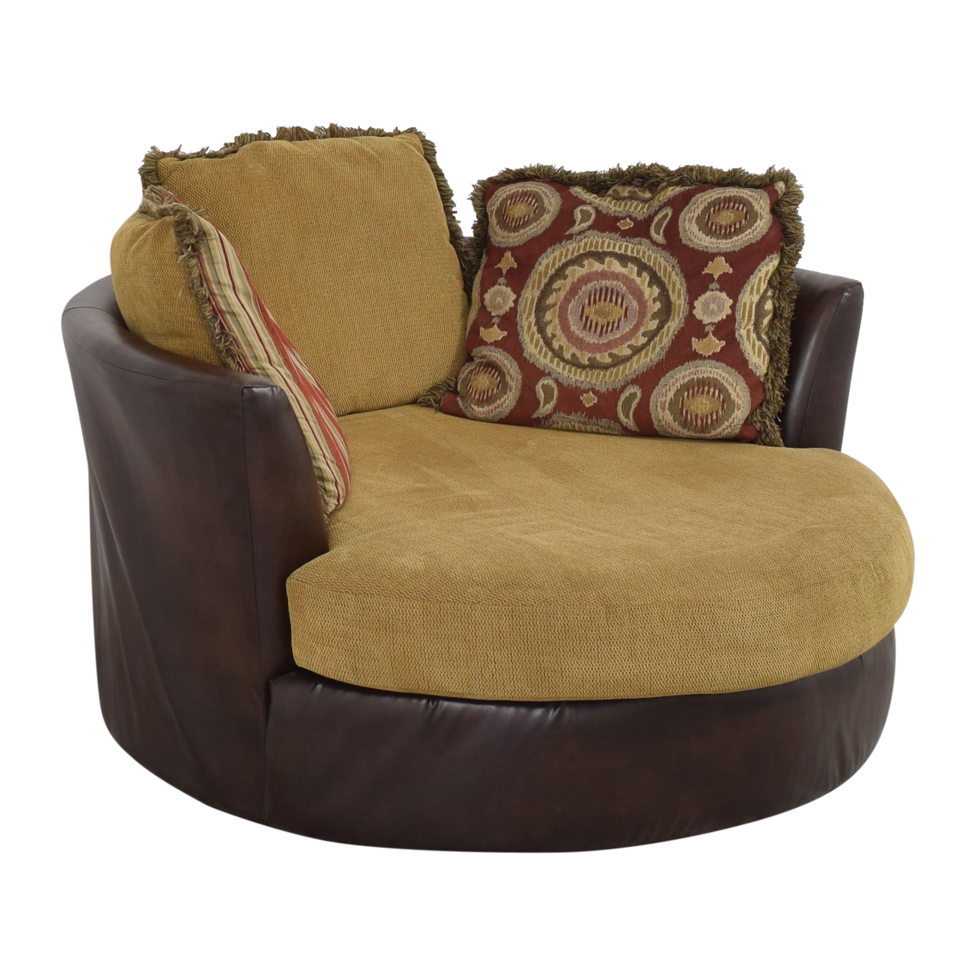 Albany Industries Albany Industries Newport Swivel Chair brown & tan
