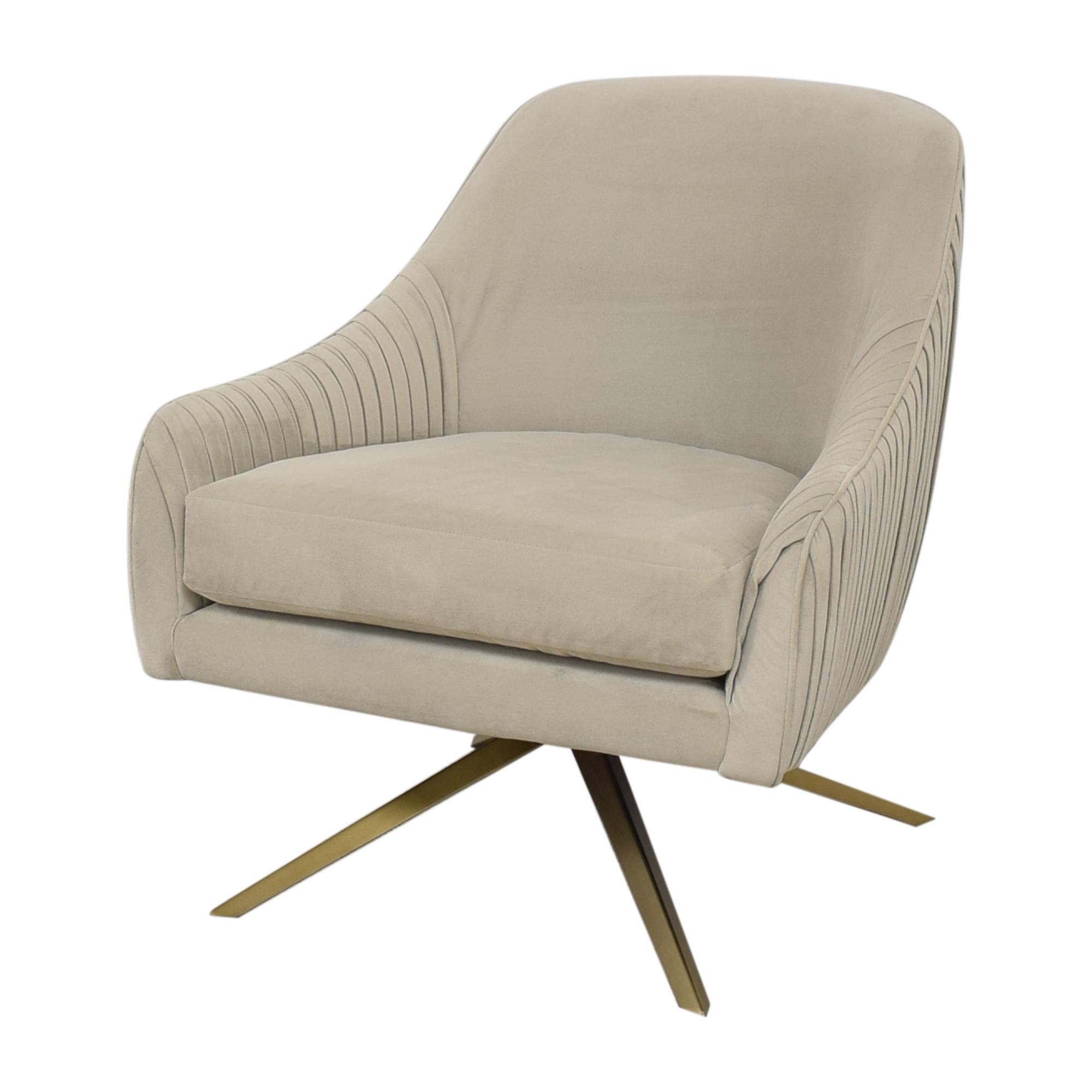West Elm West Elm Roar & Rabbit Pleated Swivel Chair pa