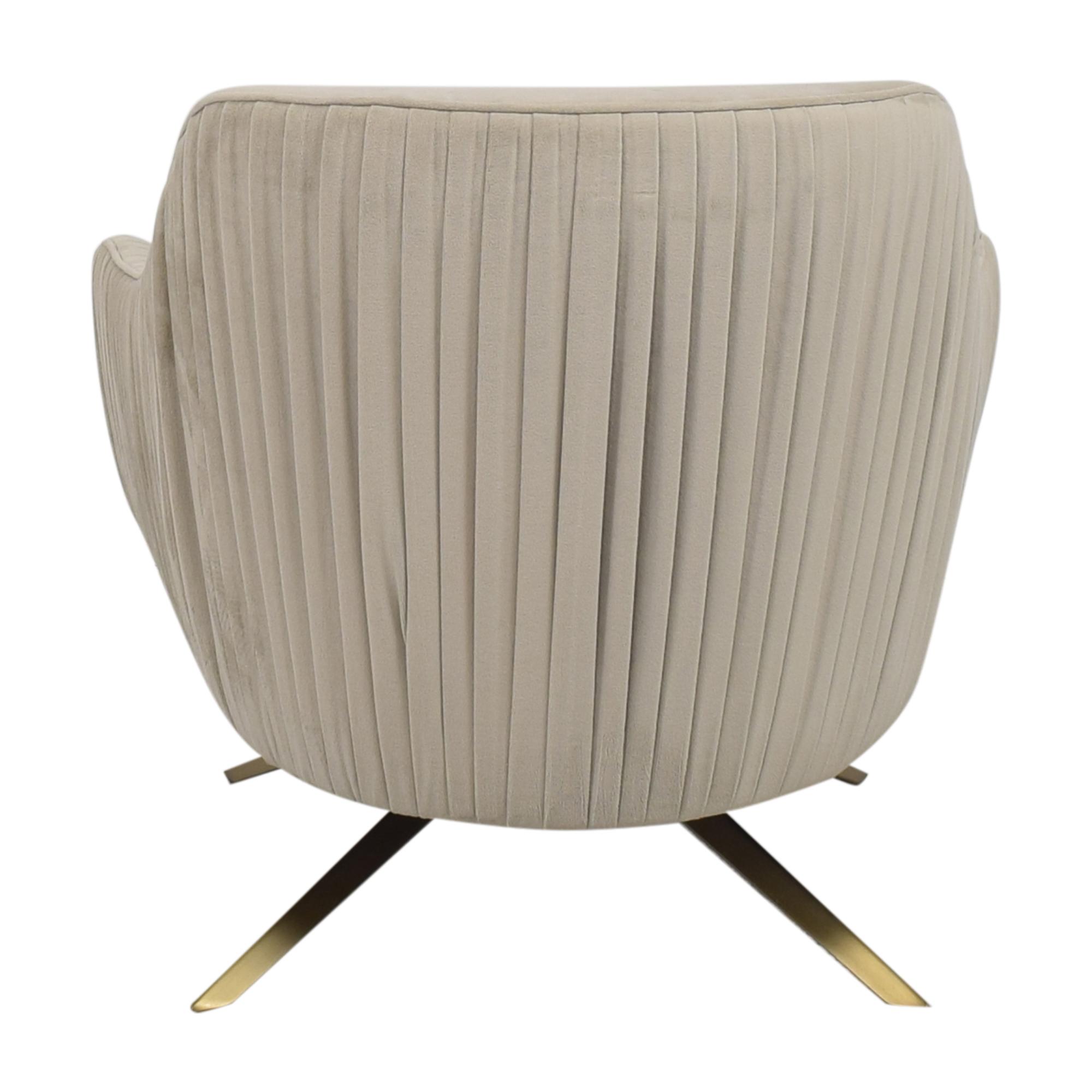 buy West Elm Roar & Rabbit Pleated Swivel Chair West Elm Chairs