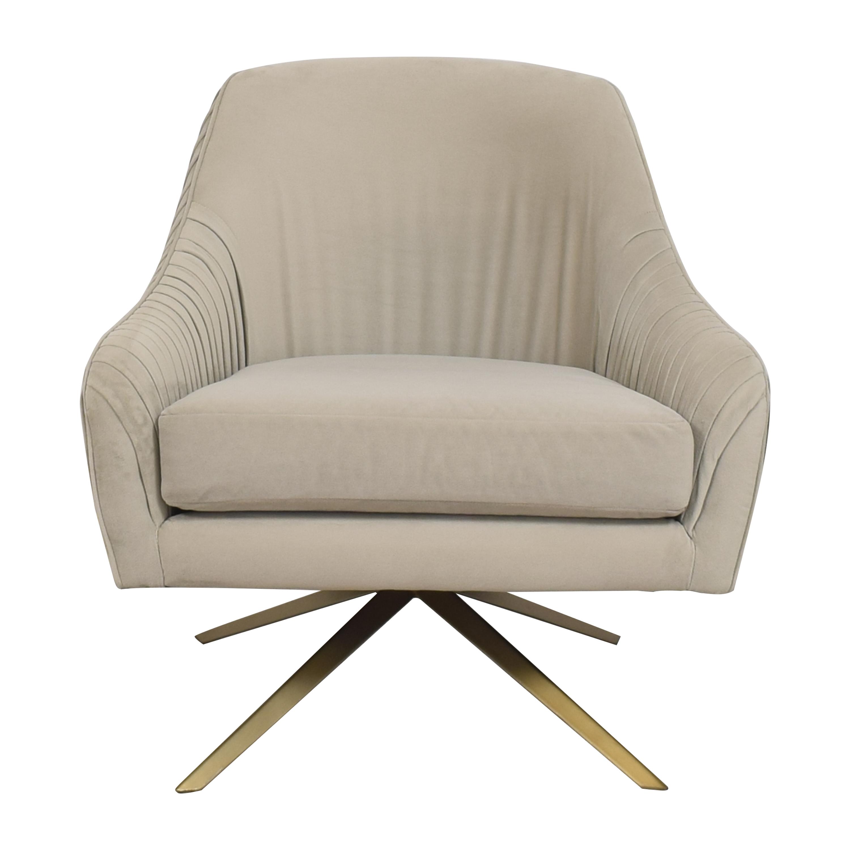 West Elm West Elm Roar & Rabbit Pleated Swivel Chair nyc