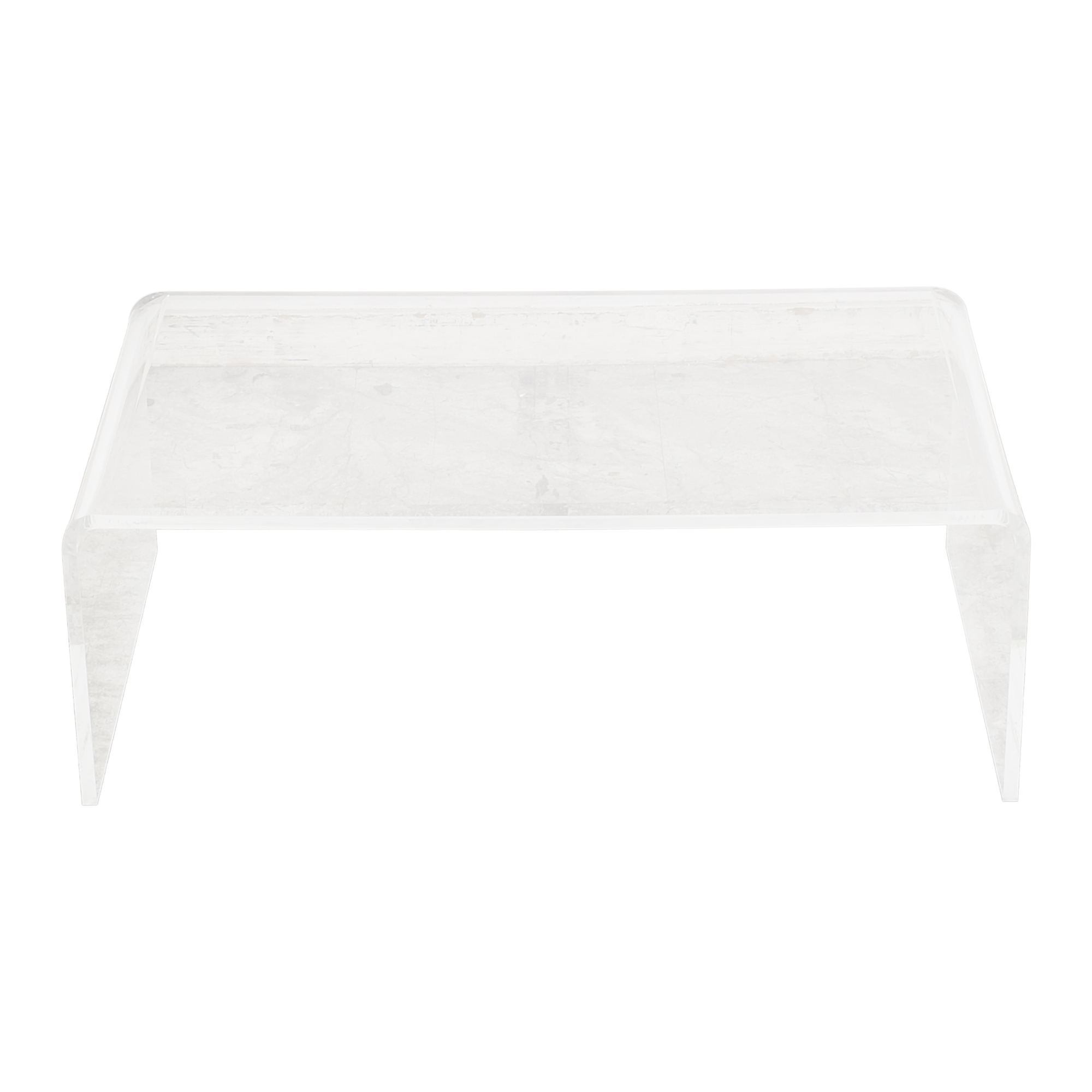 shop CB2 Peekaboo Tall Transparent Coffee Table CB2 Coffee Tables