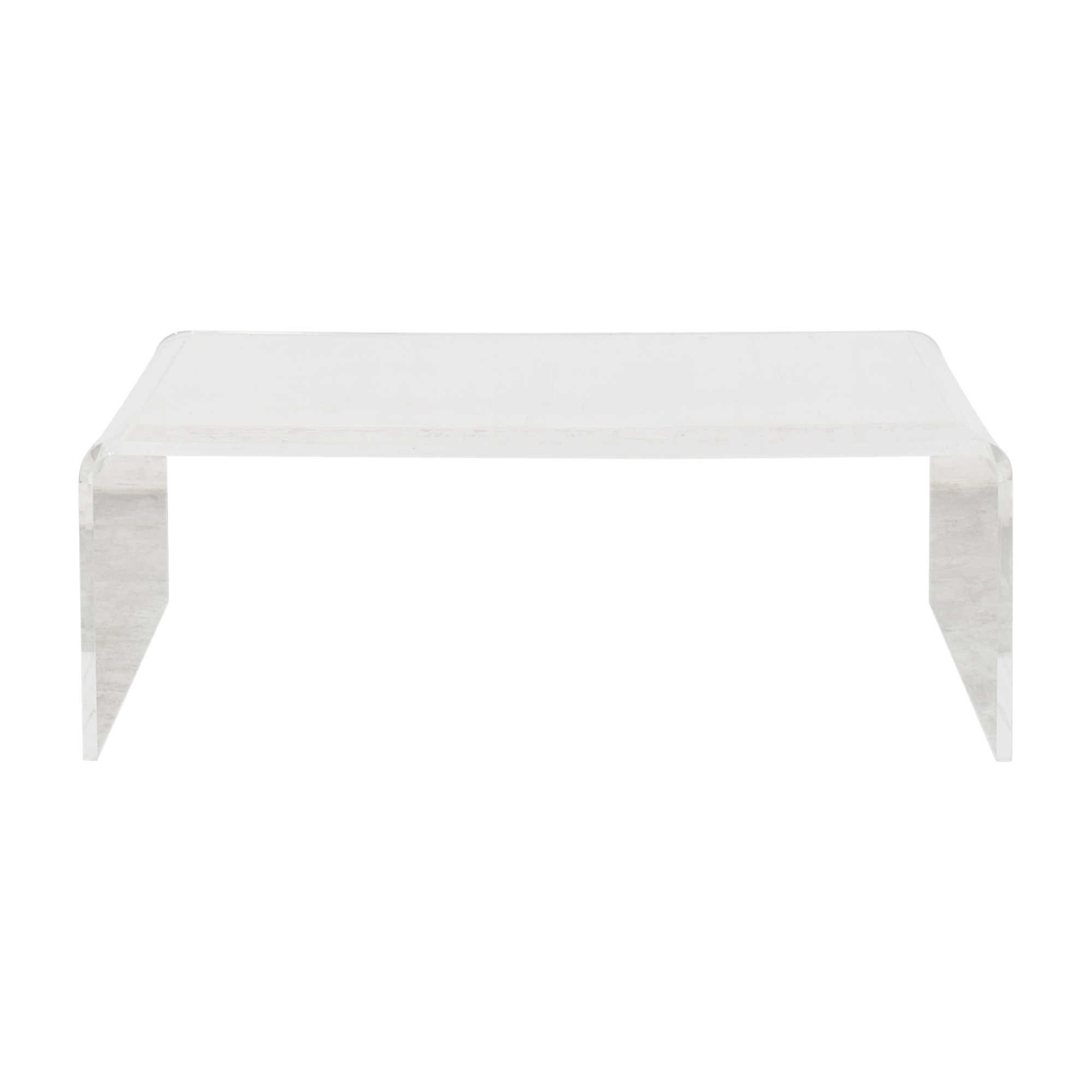 CB2 CB2 Peekaboo Tall Transparent Coffee Table