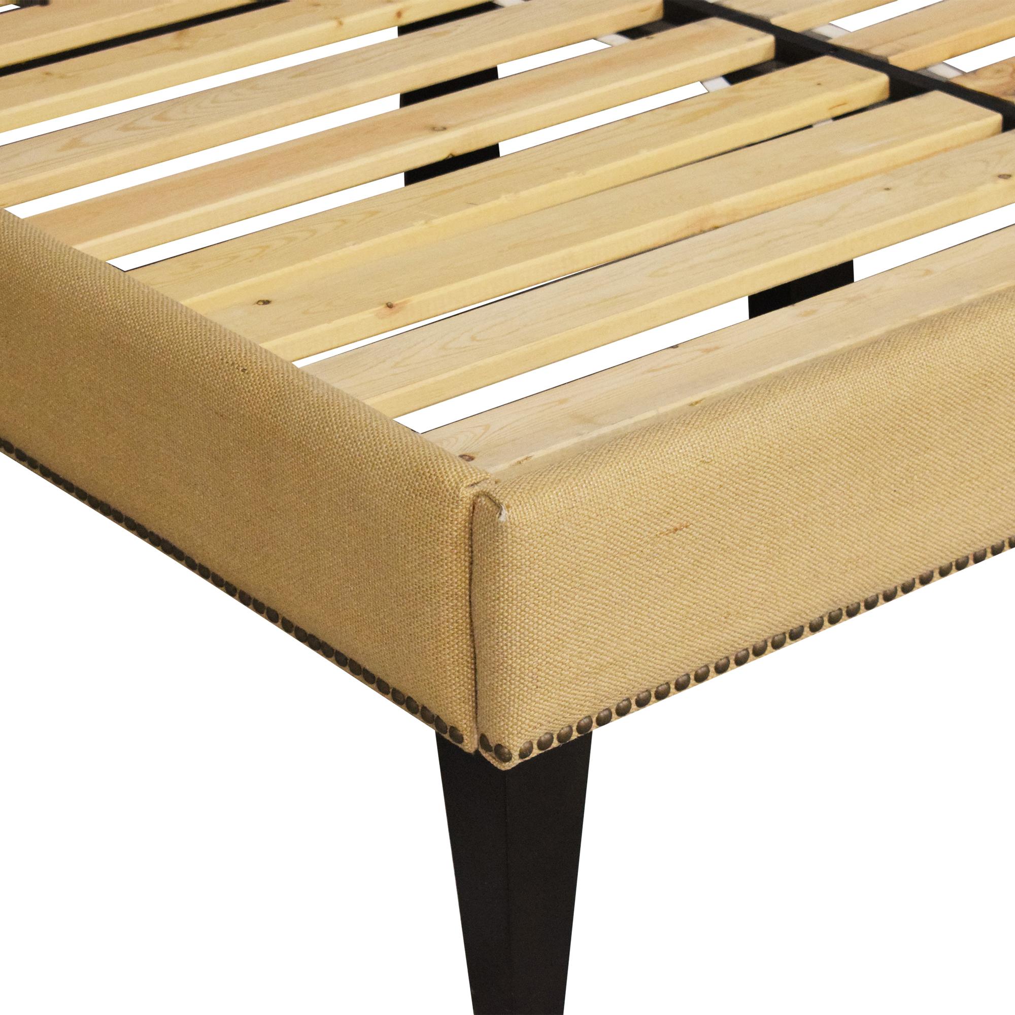shop West Elm Upholstered Nailhead Full Bed West Elm Bed Frames