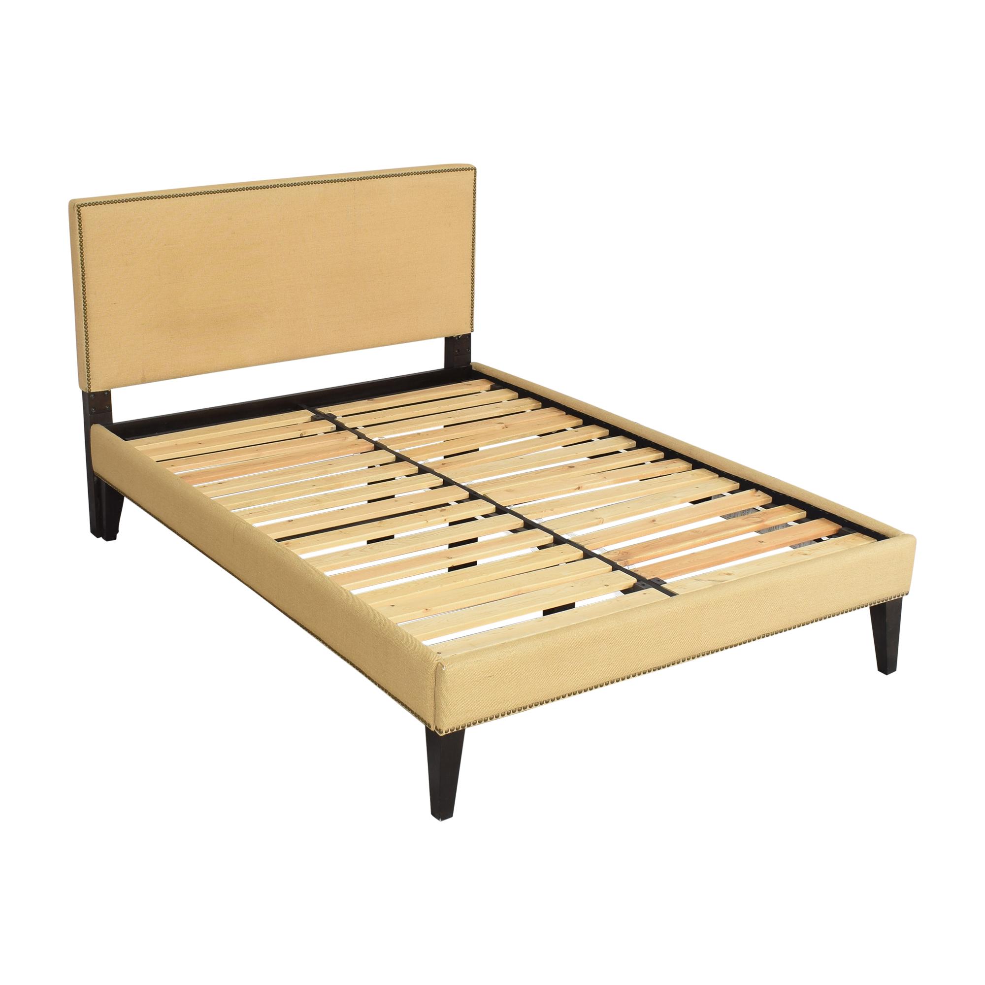 West Elm West Elm Upholstered Nailhead Full Bed on sale