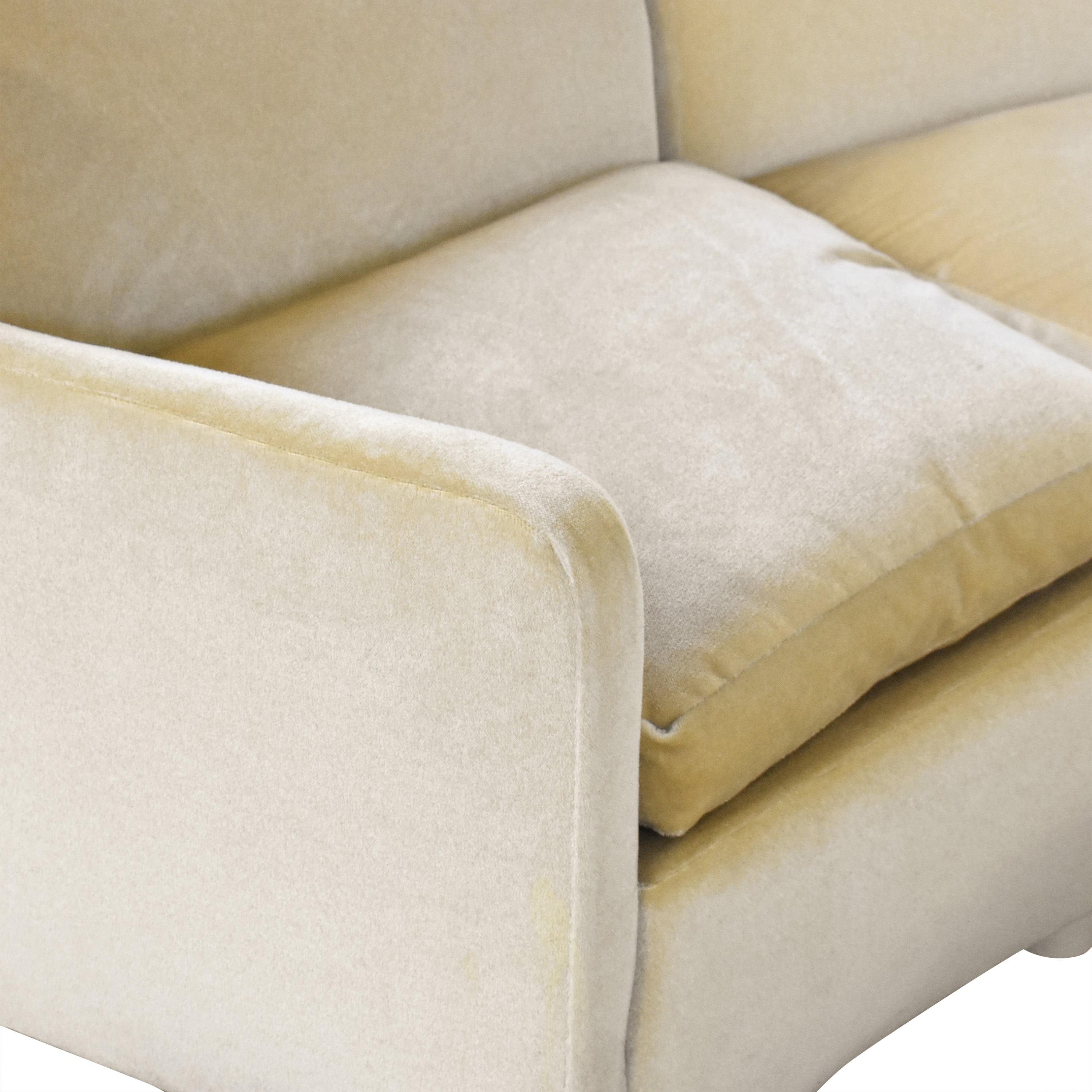 shop Curved Art Deco Sectional with Ottomans  Sectionals