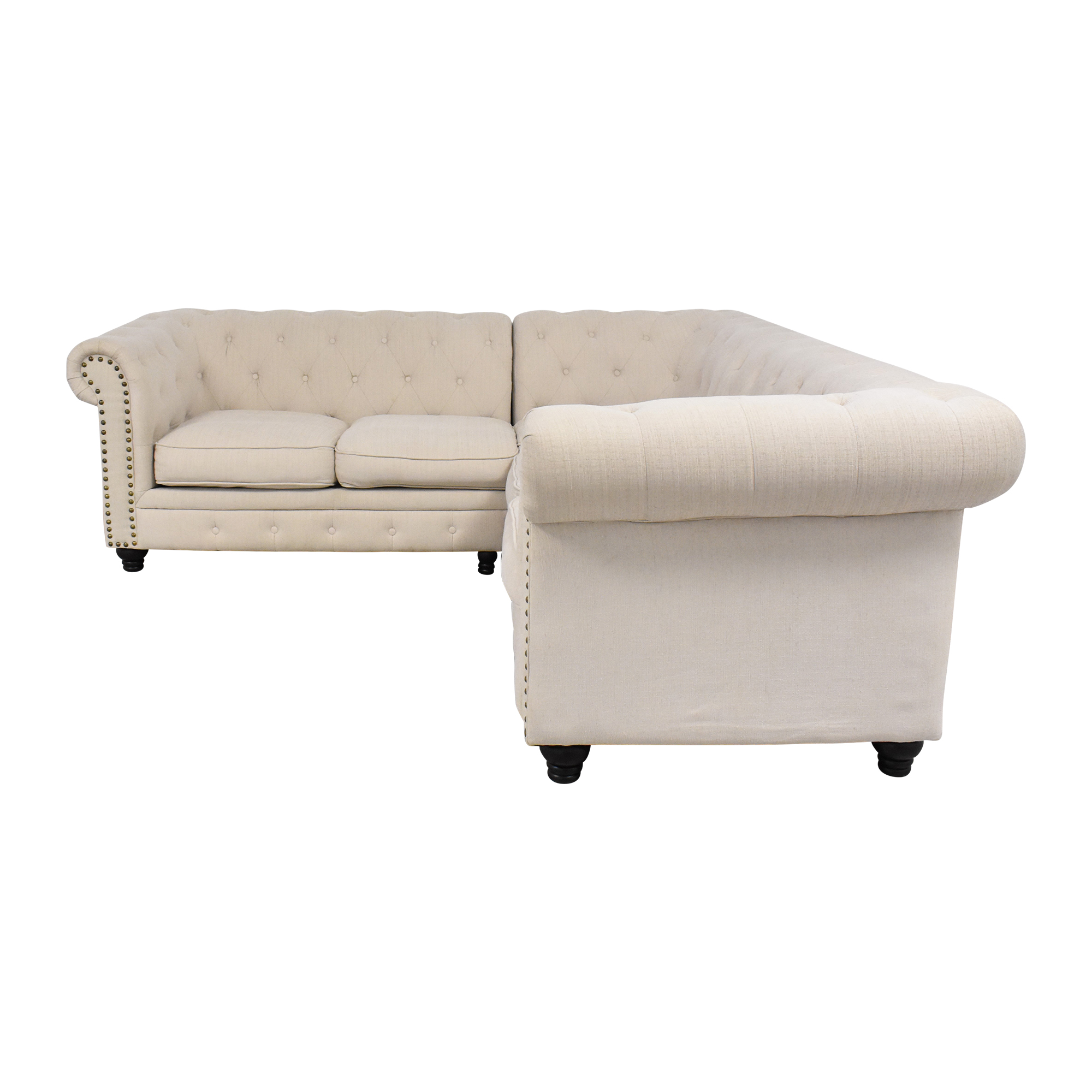 buy Furniture of America Stanford Tufted Sectional Sofa Furniture of America